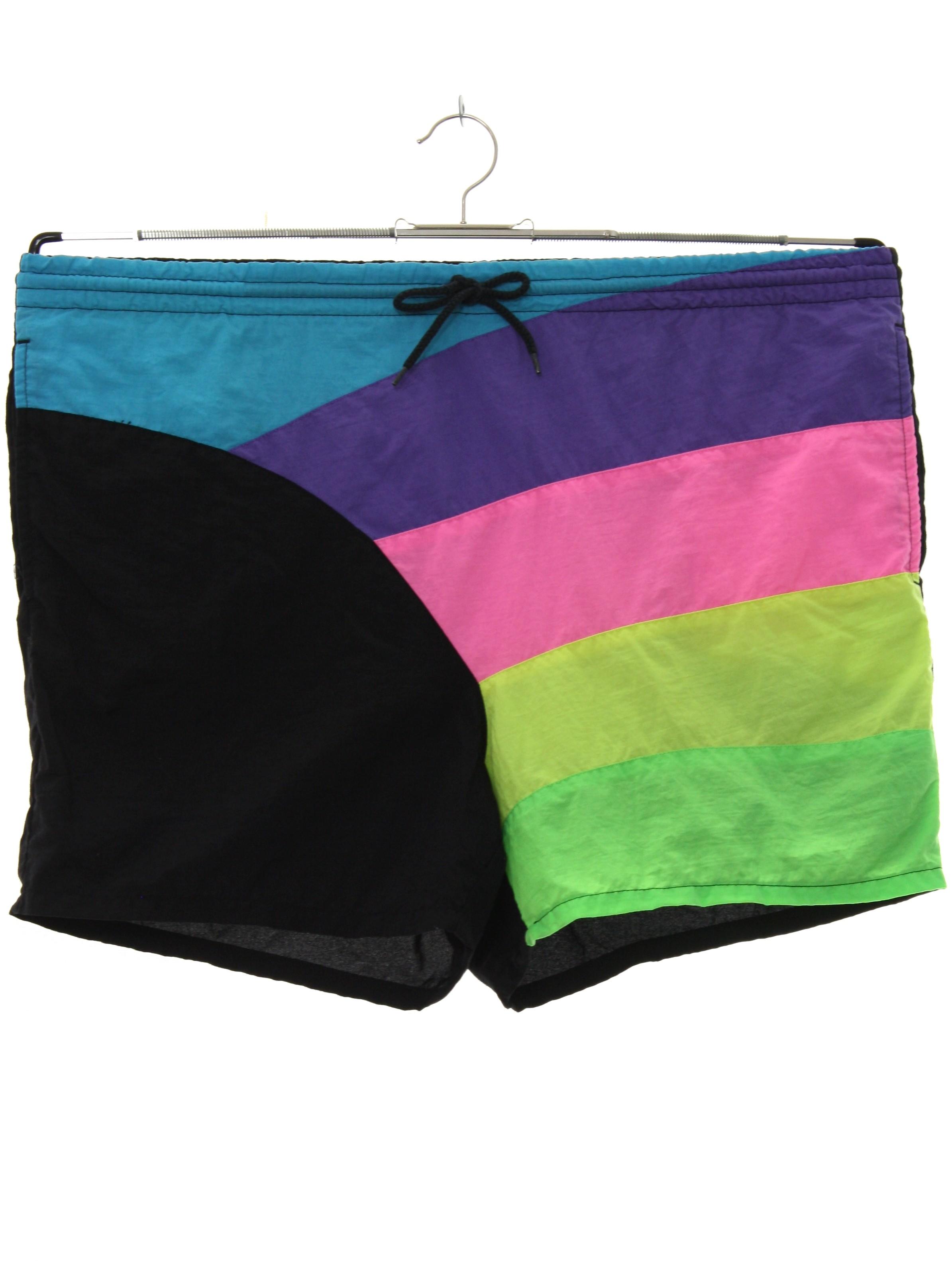 b9b4d9649d9 Swimsuit/Swimwear: (made in 90s) -Dash to the Beach- Mens bright ...