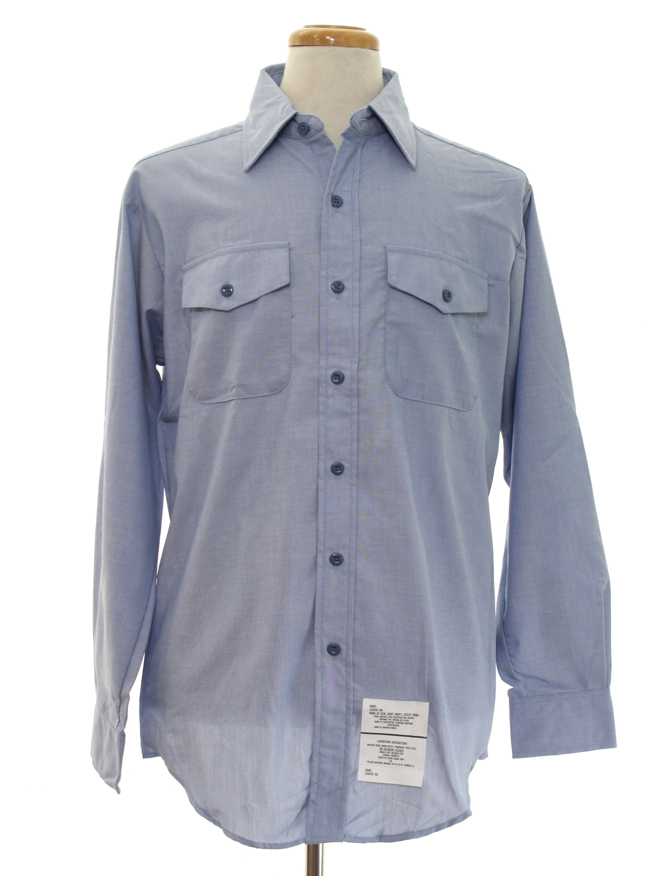 80 39 s seagoing uniform corp shirt 80s seagoing uniform for Blue cotton work shirts