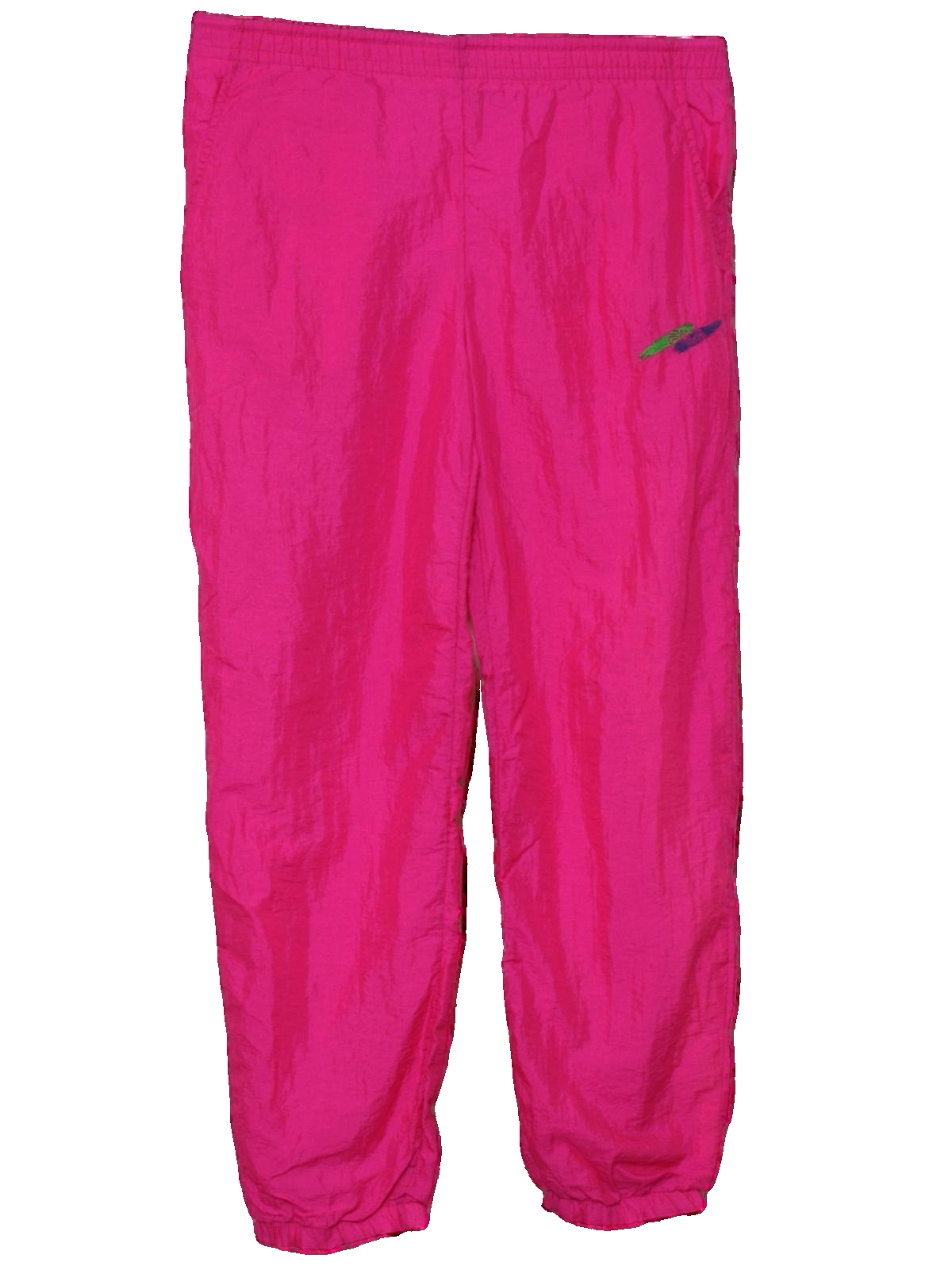 1980's Fila Womens Totally 80s Style Neon Baggy Track Pants