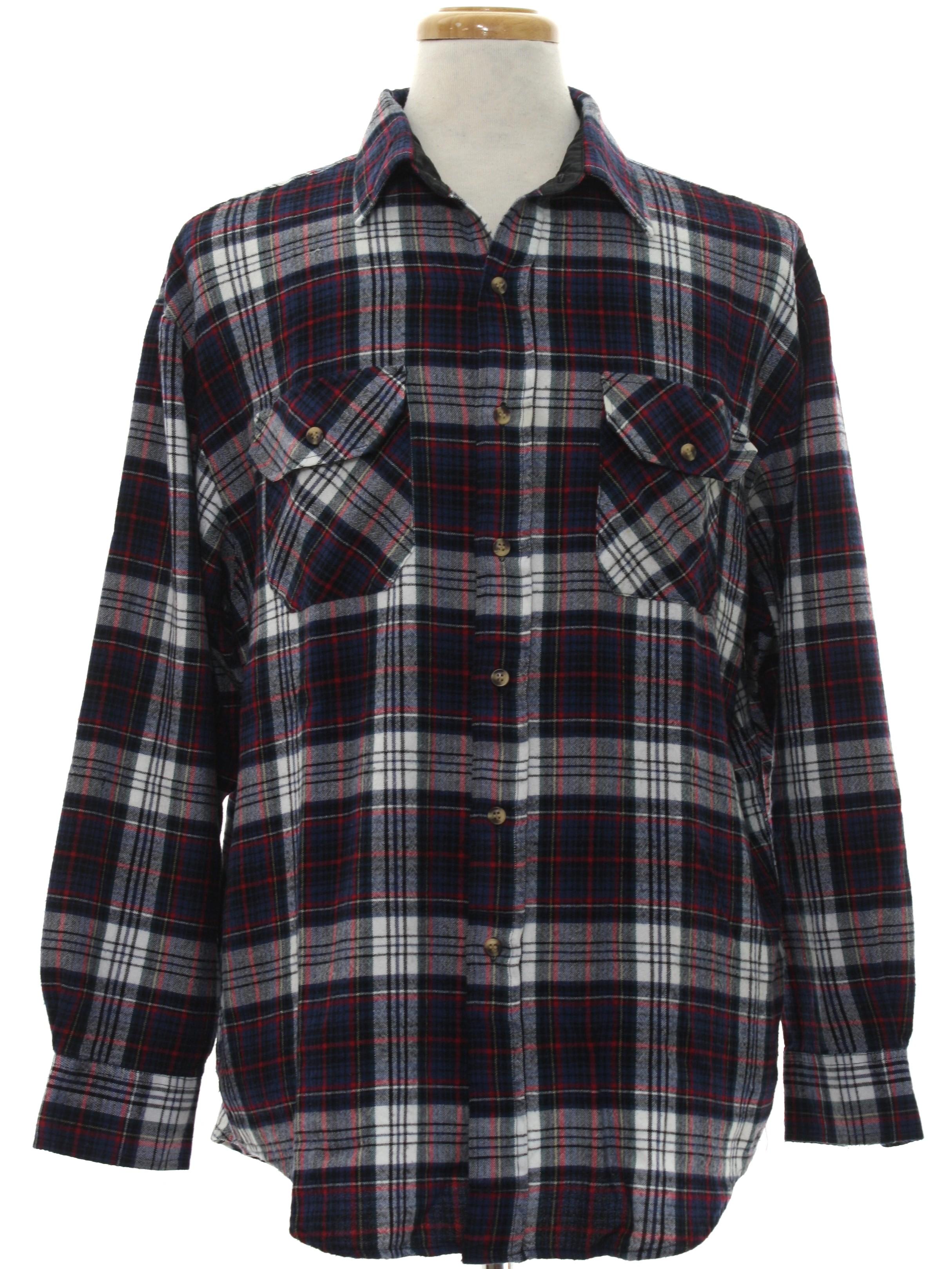 1980 S Retro Shirt 80s Northwest Blue Mens White Black Dark