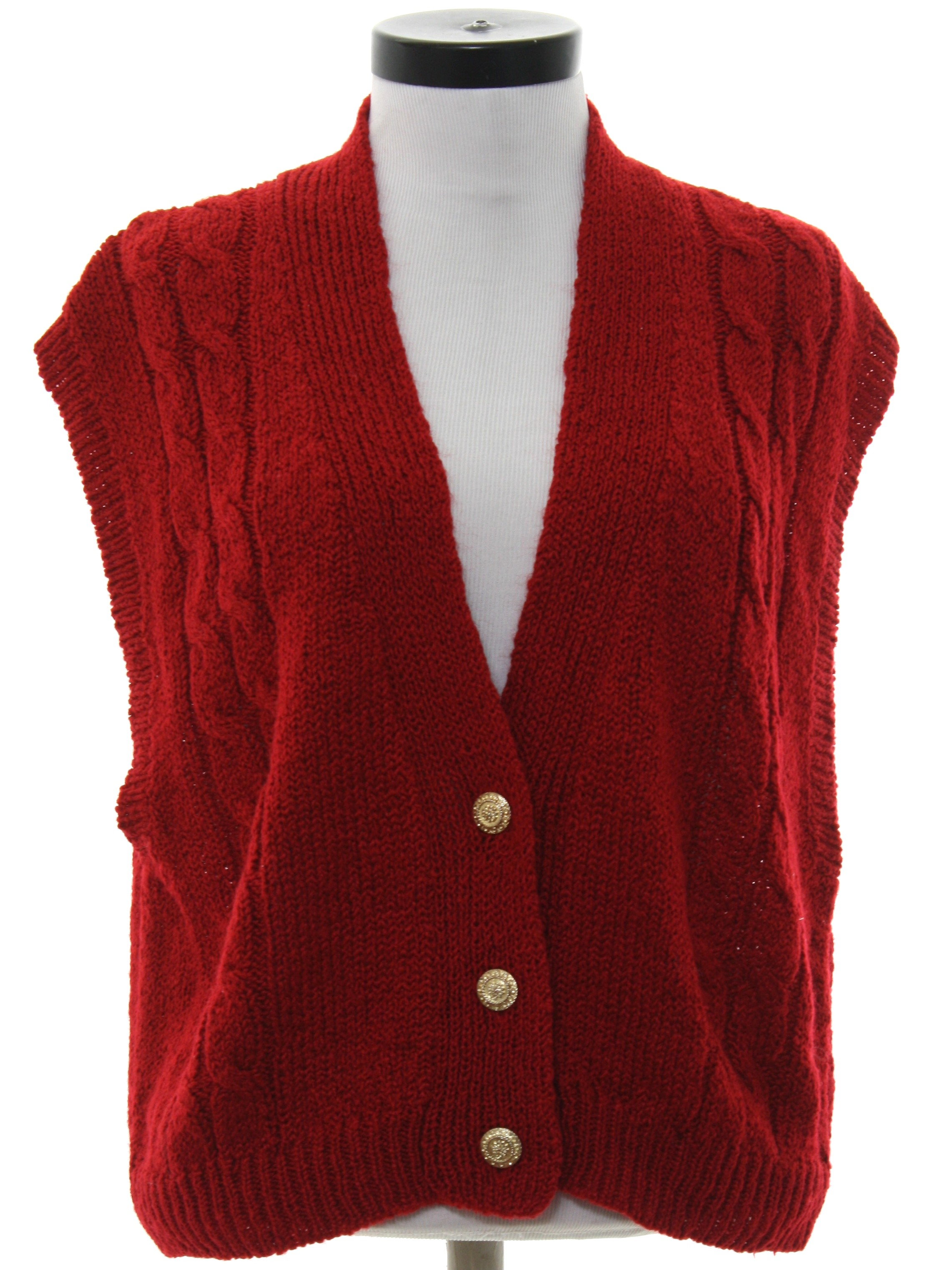 Retro 1980's Sweater (Ashley Hill) : 80s -Ashley Hill- Womens red ...