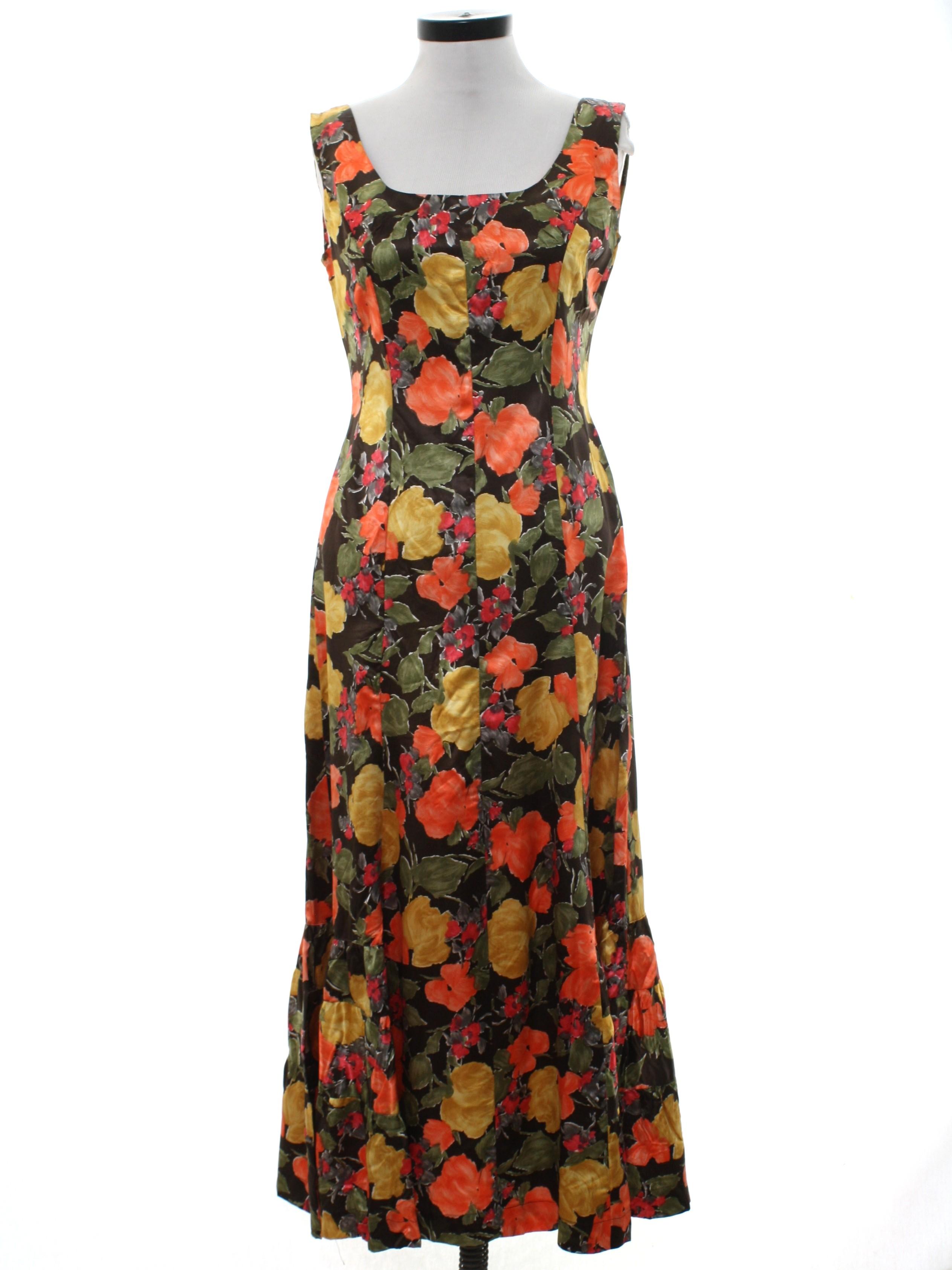 4ae641390a5a Home Sewn 1960s Vintage Dress: 60s -Home Sewn- Womens dark brown ...