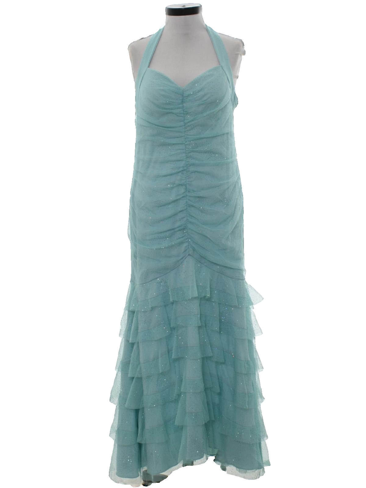 Cocktail Dress: (made in 90s) -Ignite- Womens seafoam green lace ...