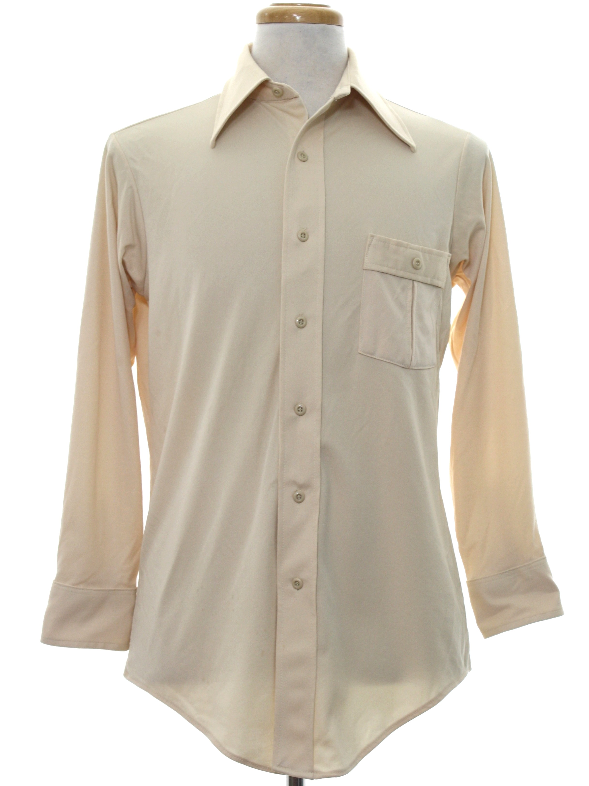 Vintage ultressa by jc penney 70 39 s disco shirt 70s for Solid color button up shirts