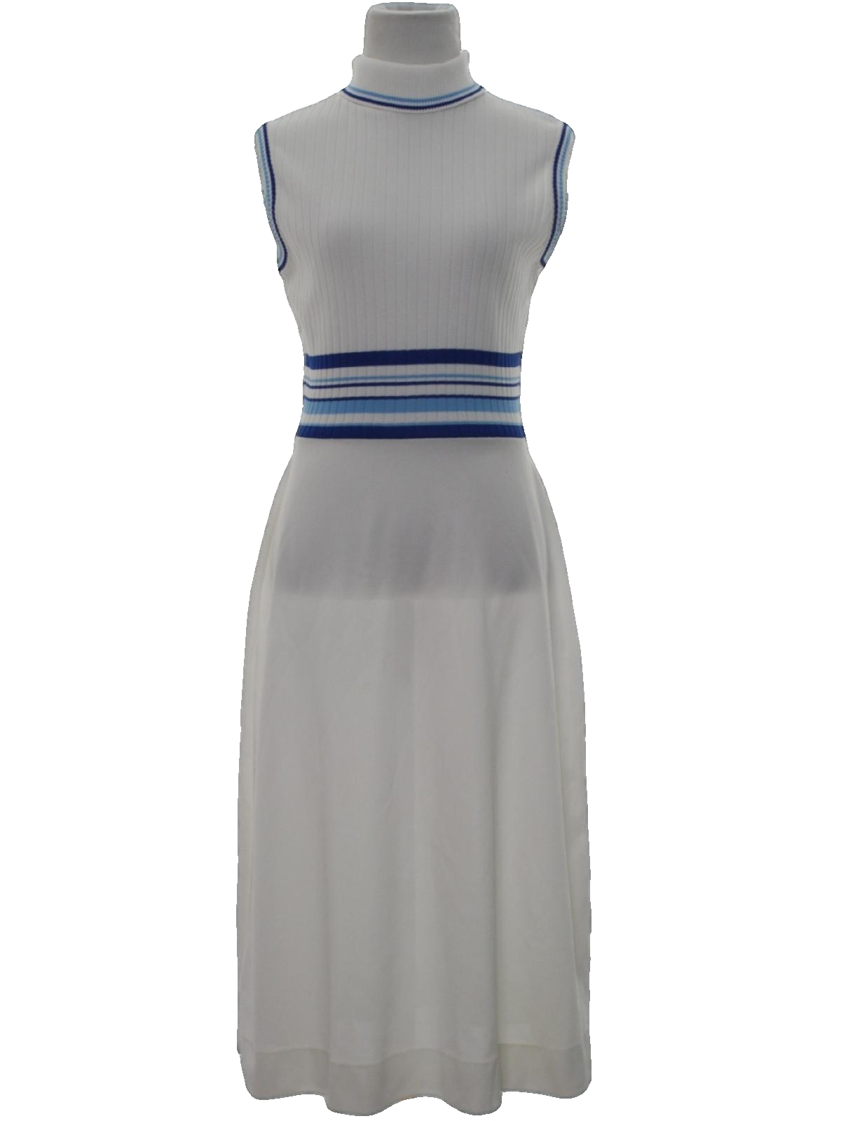 Vintage Sears 1970s Dress: 70s -Sears- Womens white background ...