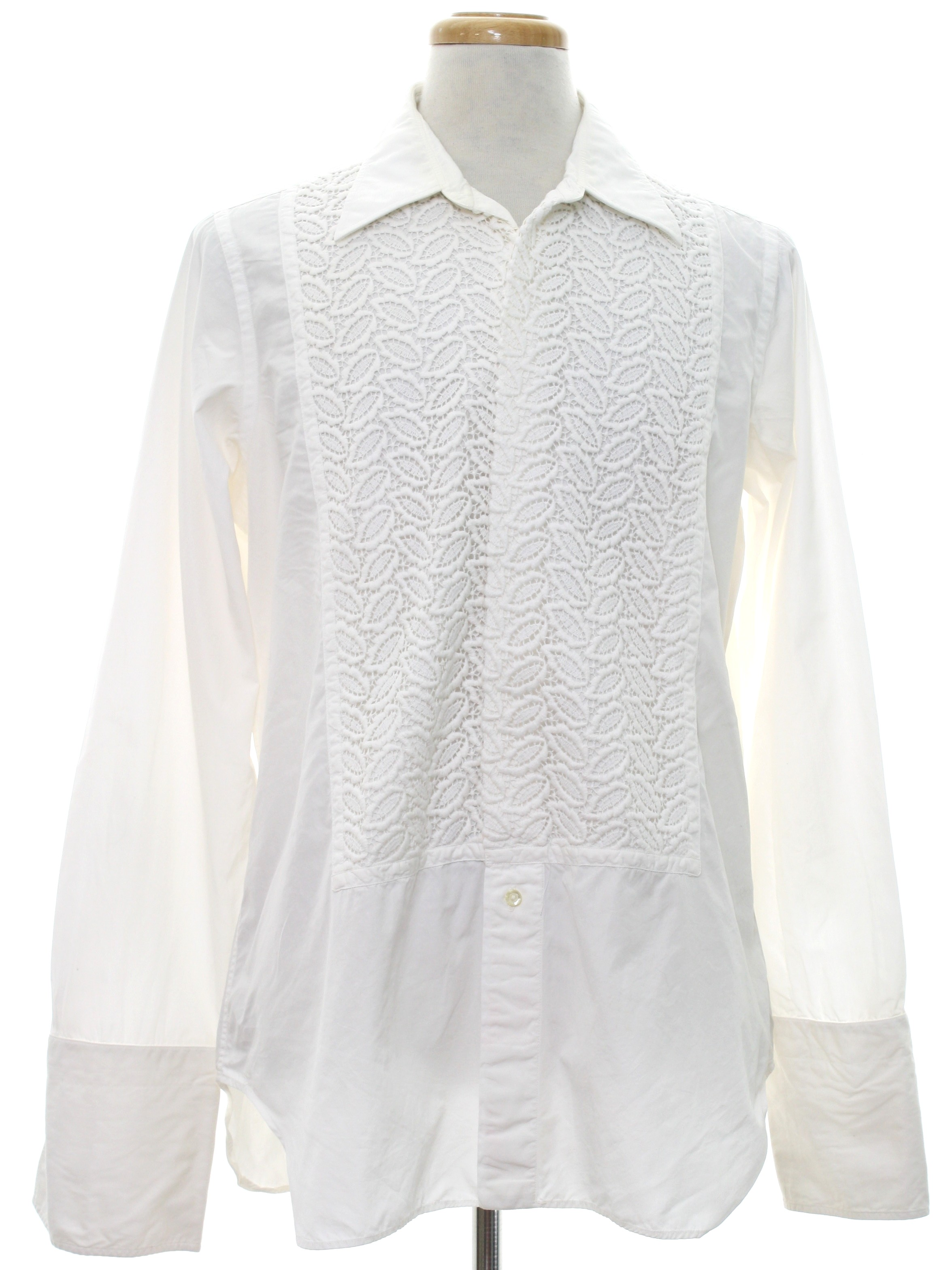 Vintage Nat Wise 1970s Shirt 70s Nat Wise Mens White