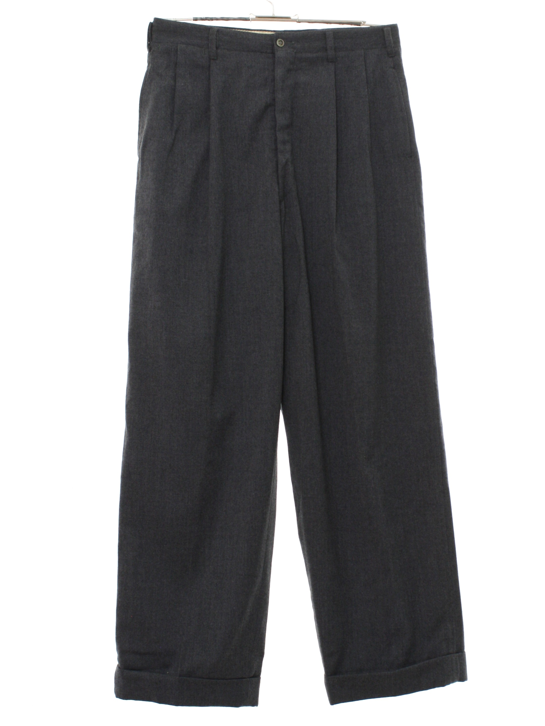 60 S Vintage Pants 60s Majer Slacks Mens Charcoal Grey