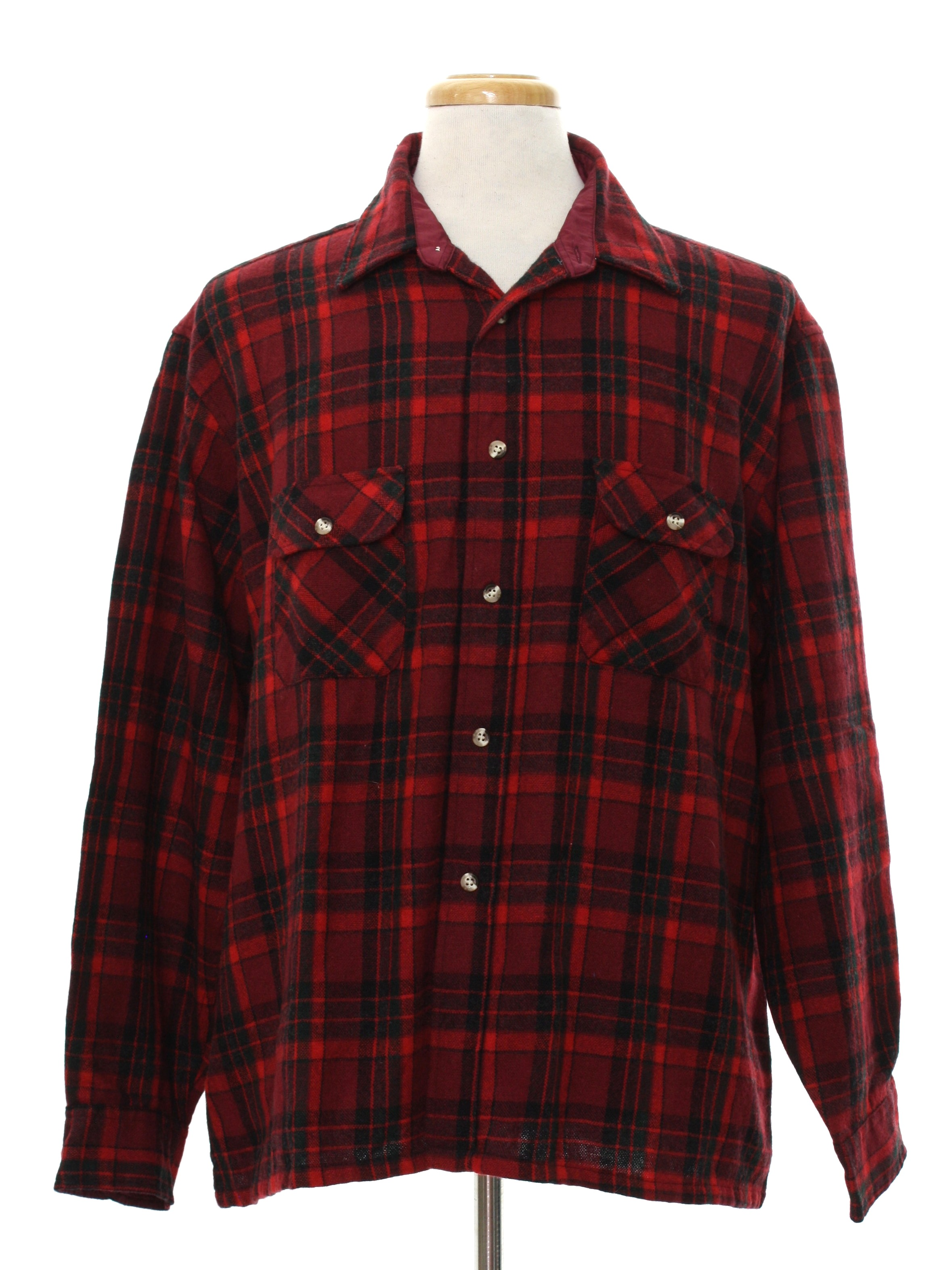 Eighties vintage wool shirt 80s high sierra mens deep for Mens shirts with cufflink holes