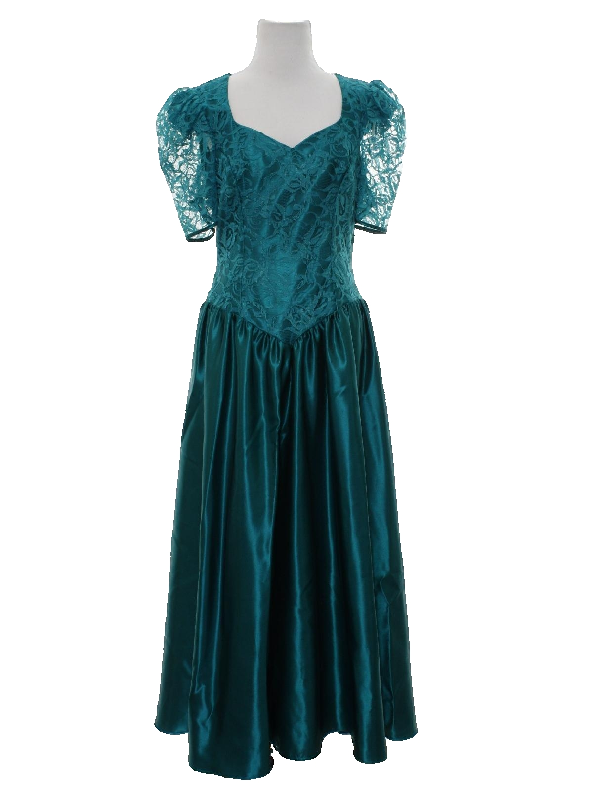 80s cocktail dress alfred angelo dream maker 80s alfred angelo 80s cocktail dress alfred angelo dream maker 80s alfred angelo dream maker womens deep teal background polyester satin and matching flower and leaf ombrellifo Choice Image