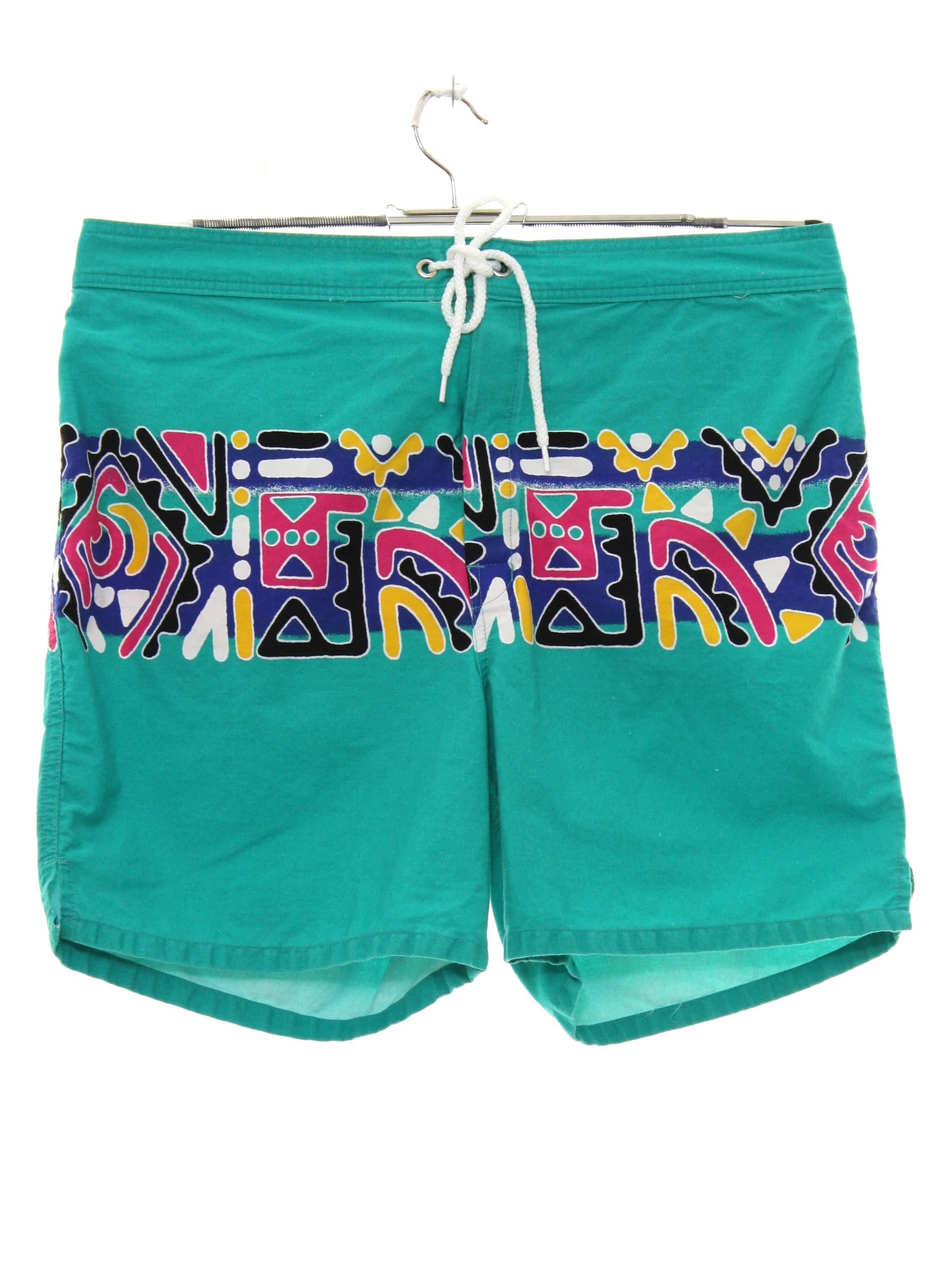 2337430c46 Retro Eighties Swimsuit/Swimwear: 80s -Hobie- Mens mint green ...