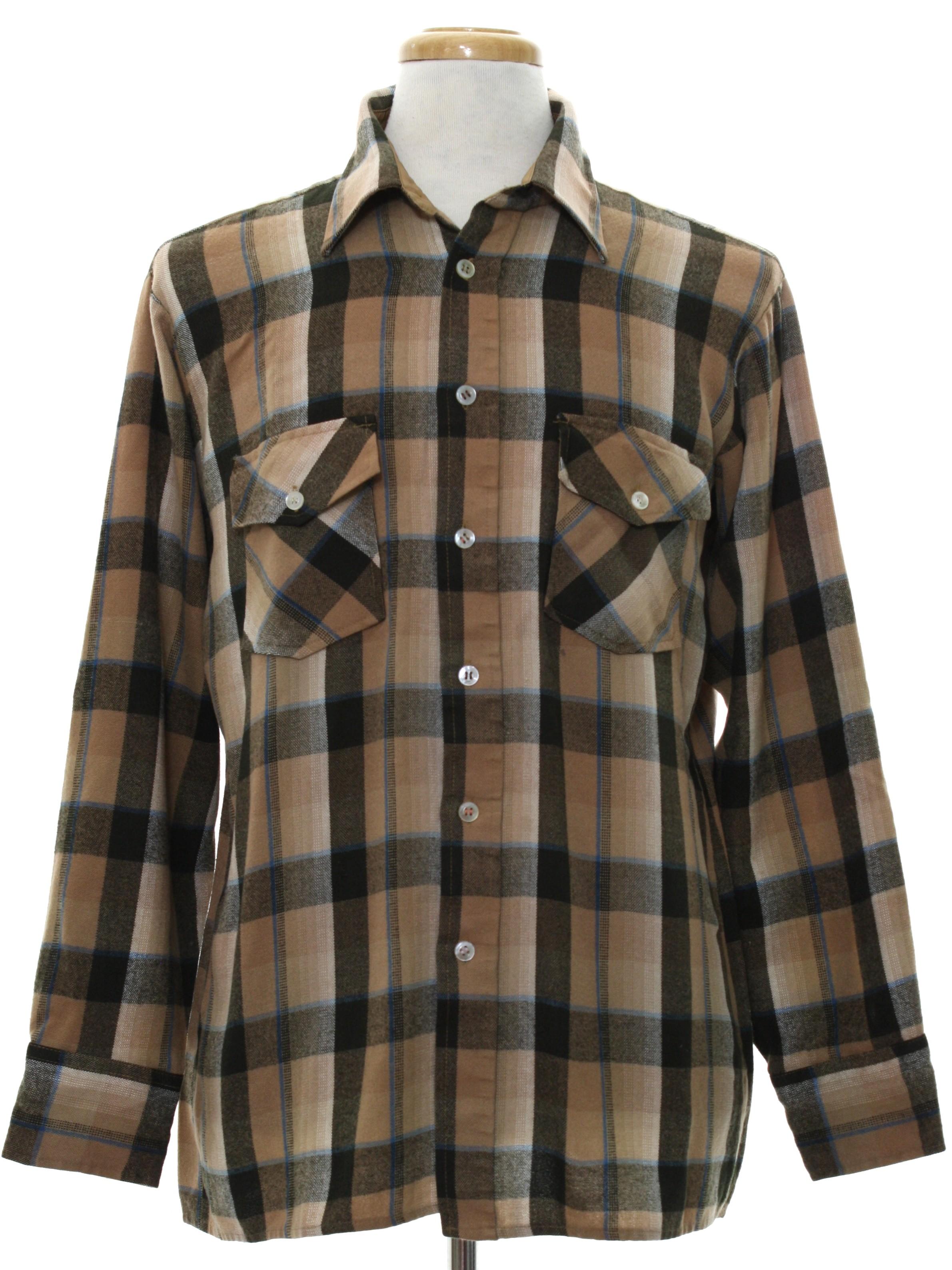 Seventies vintage shirt late 70s or early 80s van heusen for Van heusen plaid shirts