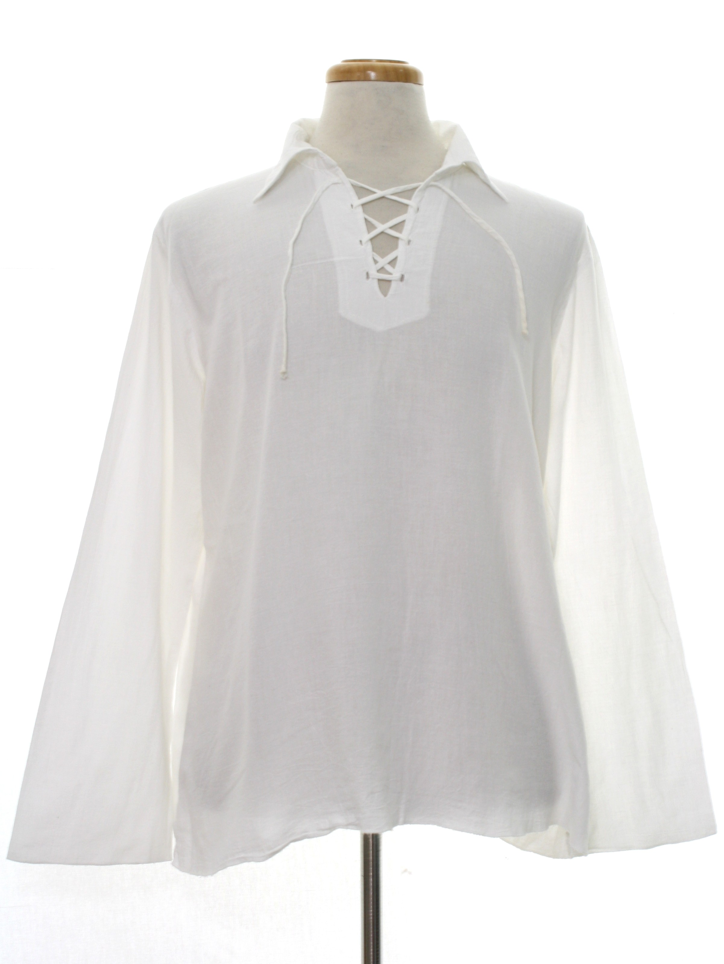 Womens White Cotton Long Sleeve Shirt