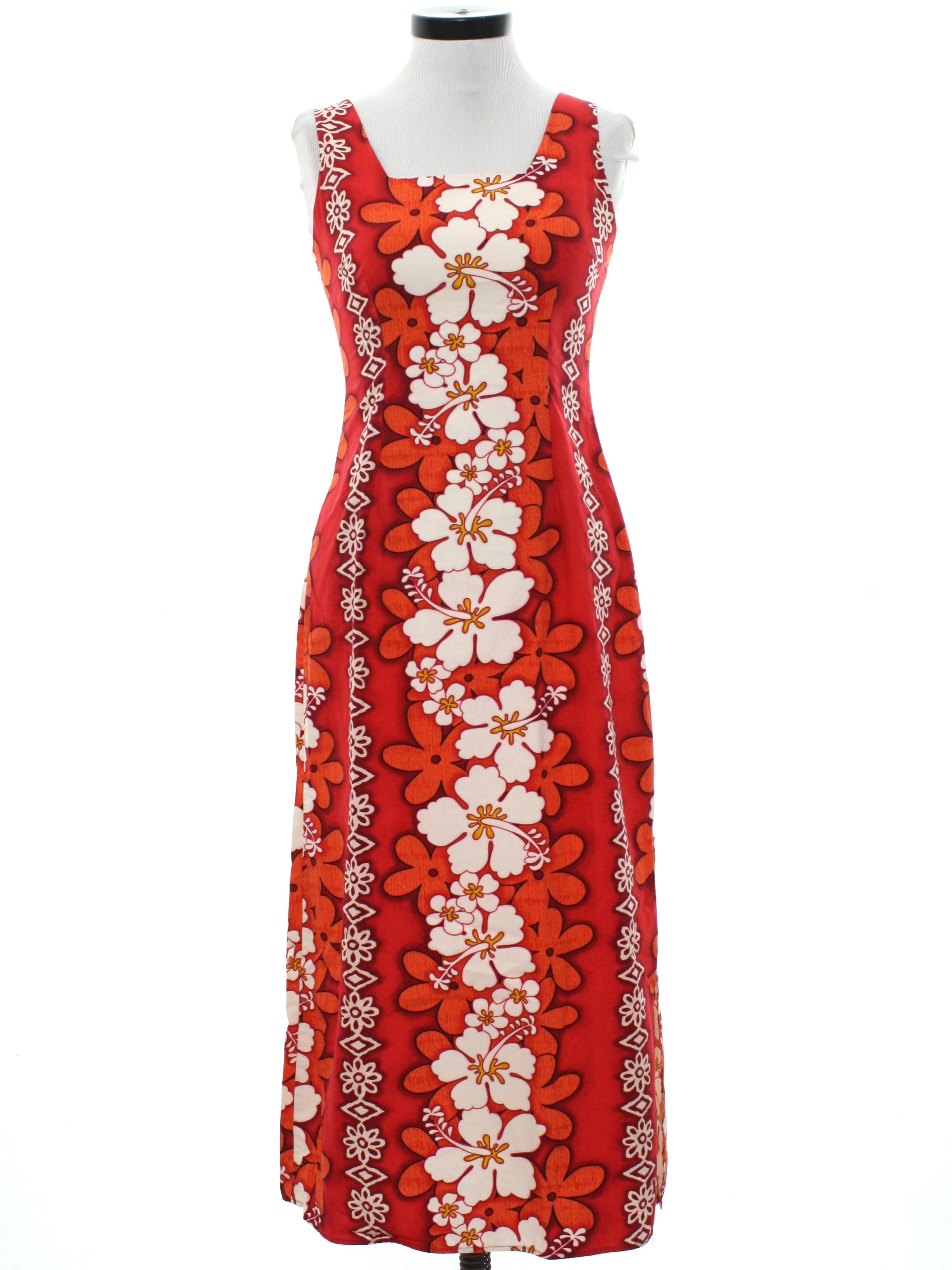 Retro 1980s Hawaiian Dress 80s Royal Creations Petite