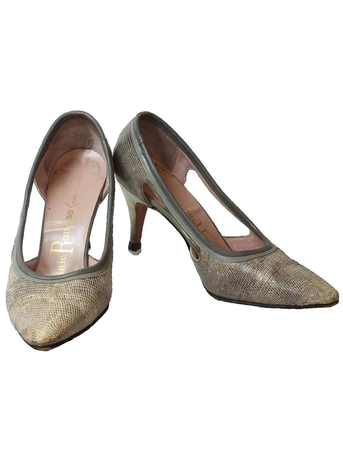Perfect Vintage Josef Du Val 60u0026#39;s Shoes Early 60s -Josef Du Val- Womens Dusty Tan Suede Leather And ...