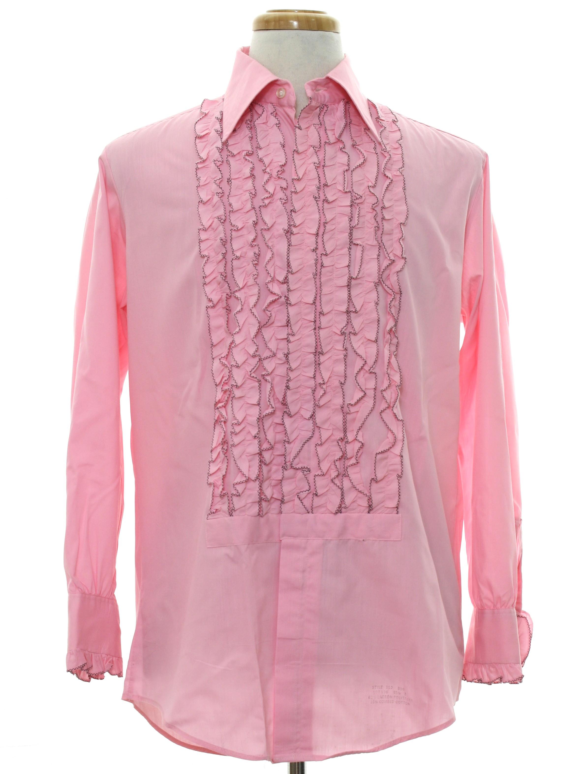 1970 39 S Vintage Delton Shirt 70s Delton Mens Hot Pink