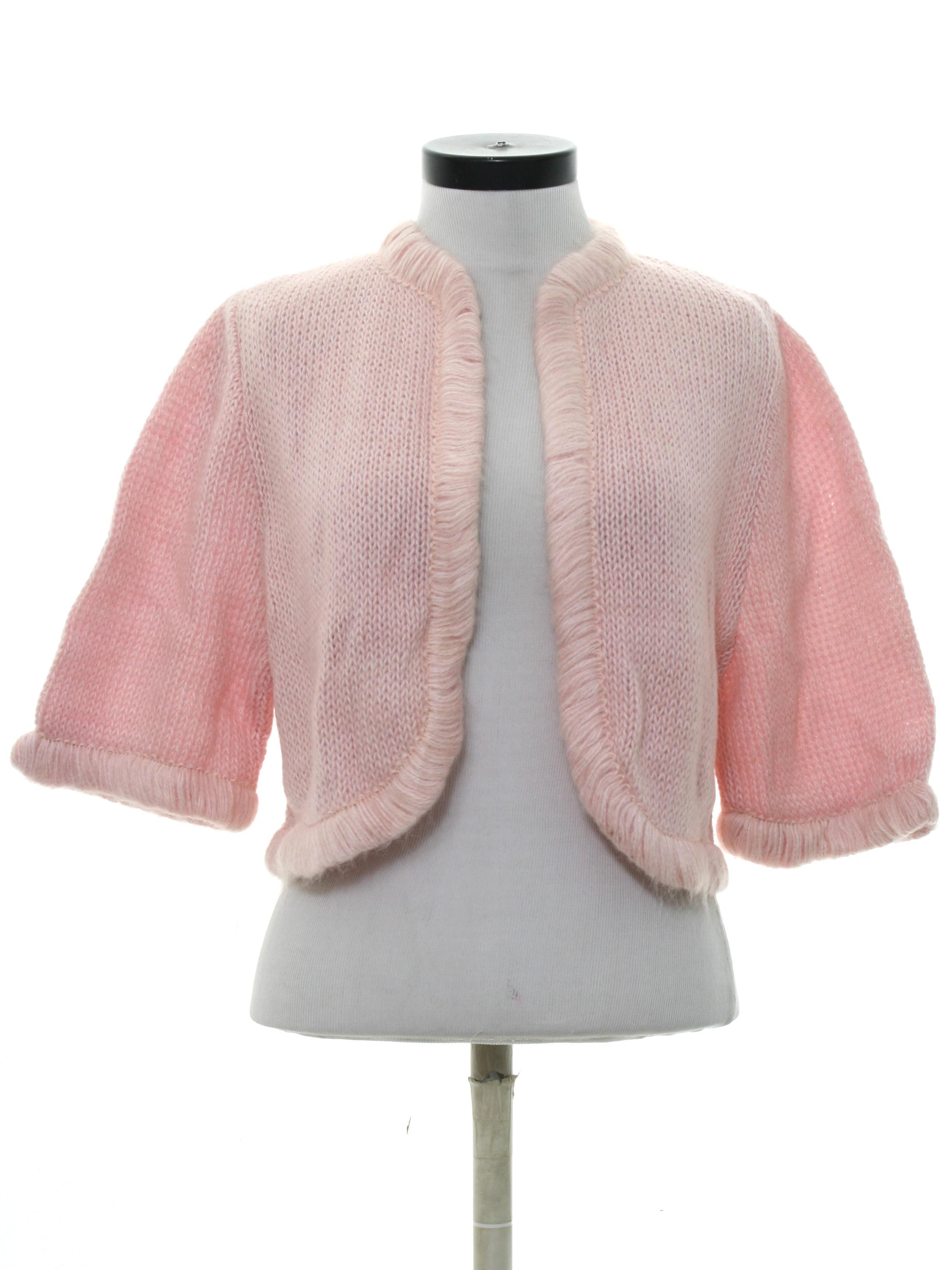 Retro Sixties Sweater 60s Neiman Marcus Womens Soft Pink