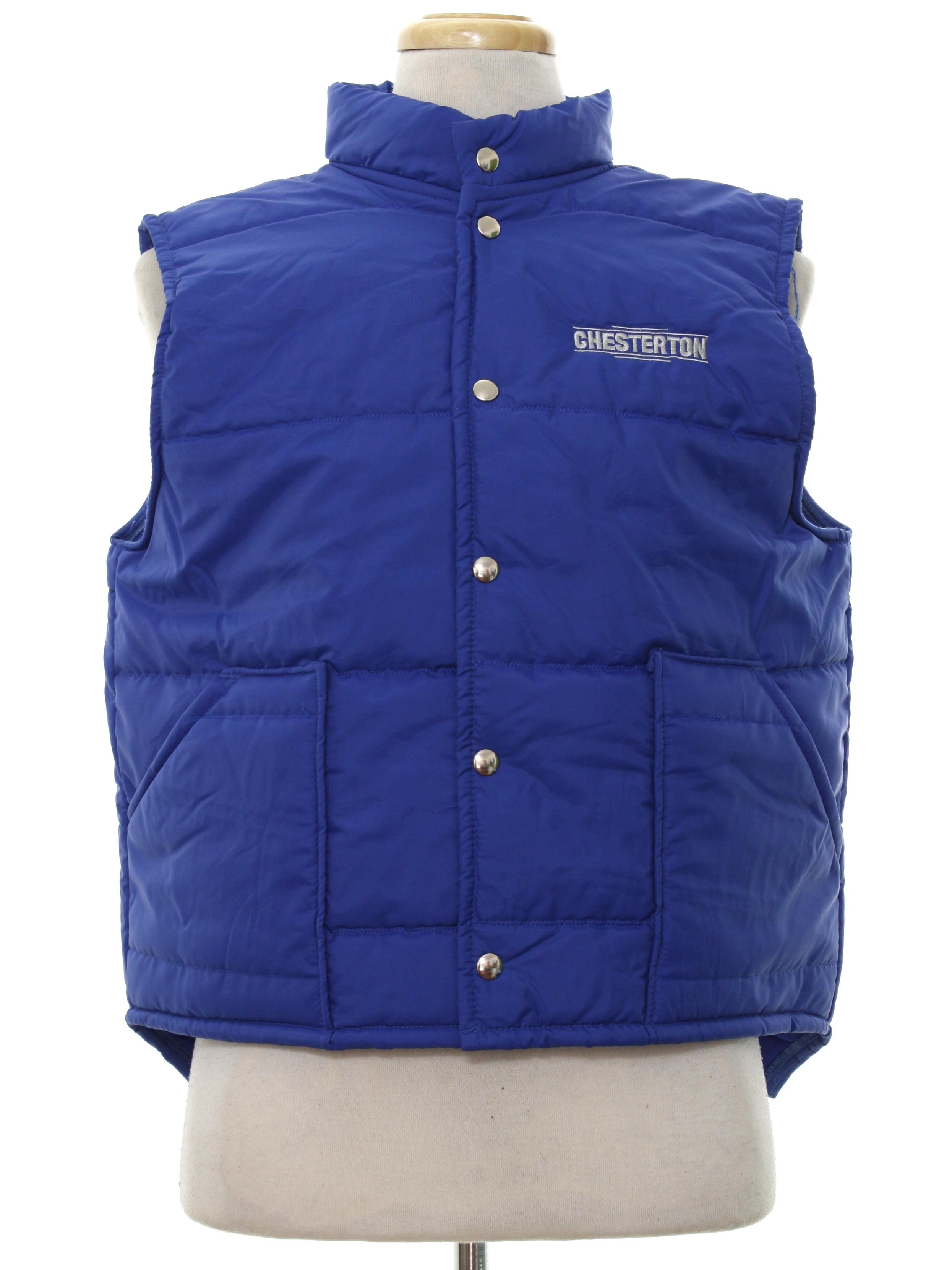 Vintage 1980 S Jacket 80s Pla Jac Mens Quilted Royal