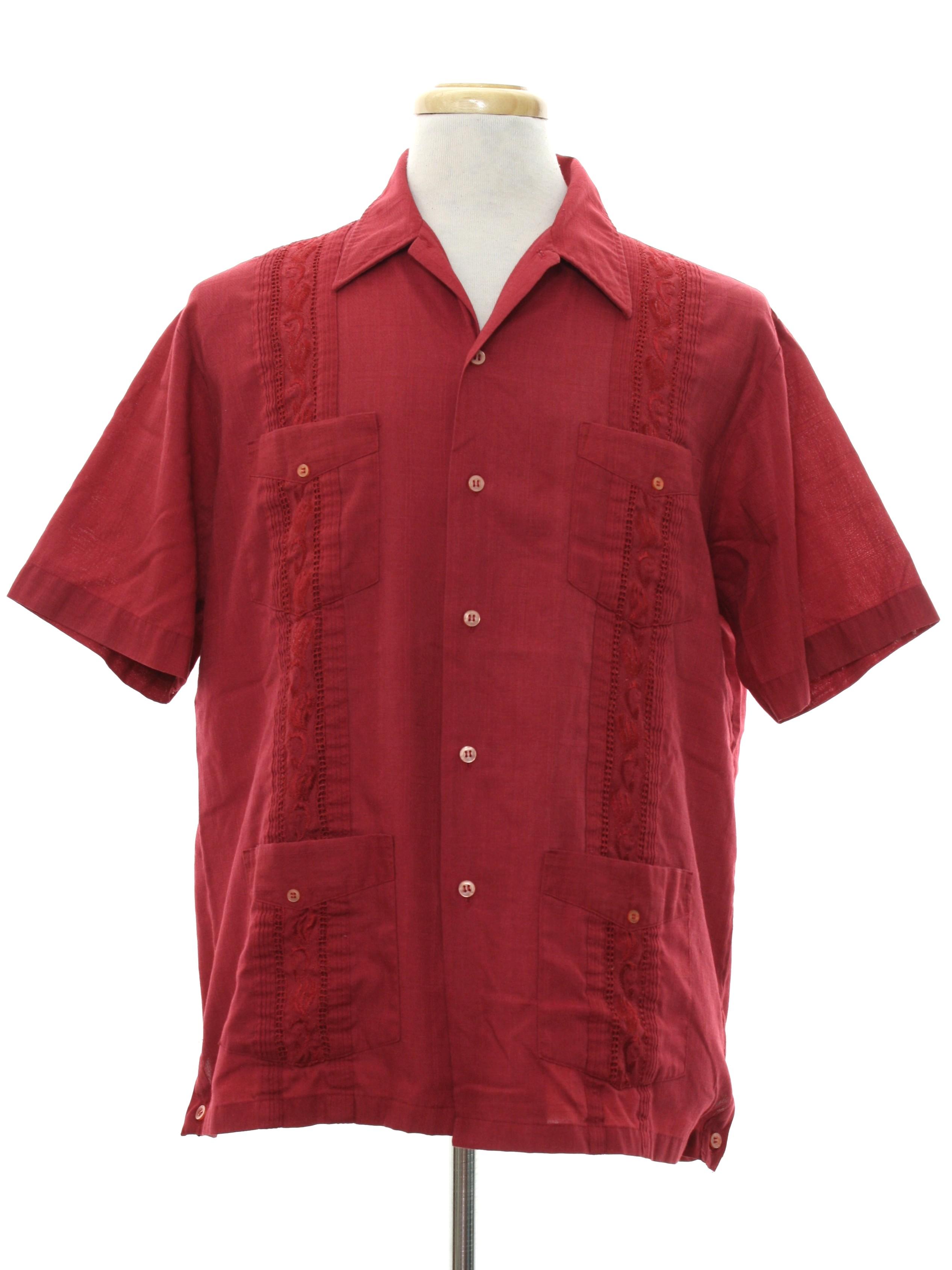 Retro 80s Guayabera Shirt (Guayabera by Haband) : 80s ...