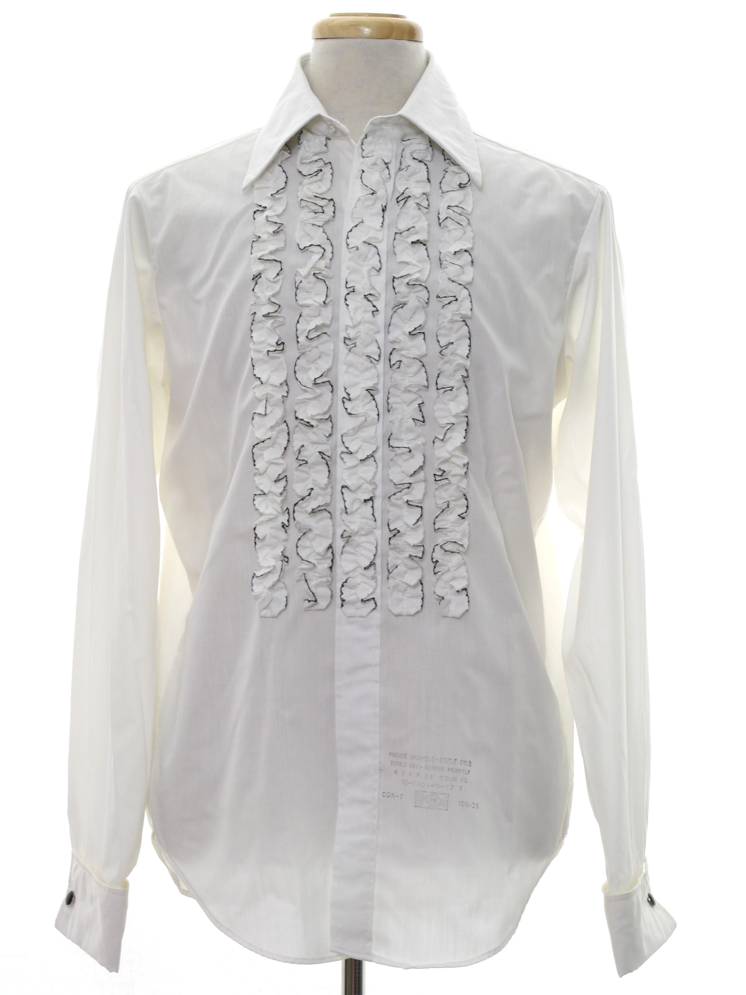 Retro 70 39 S Shirt 70s Arrow Tericota Formal Wear Mens