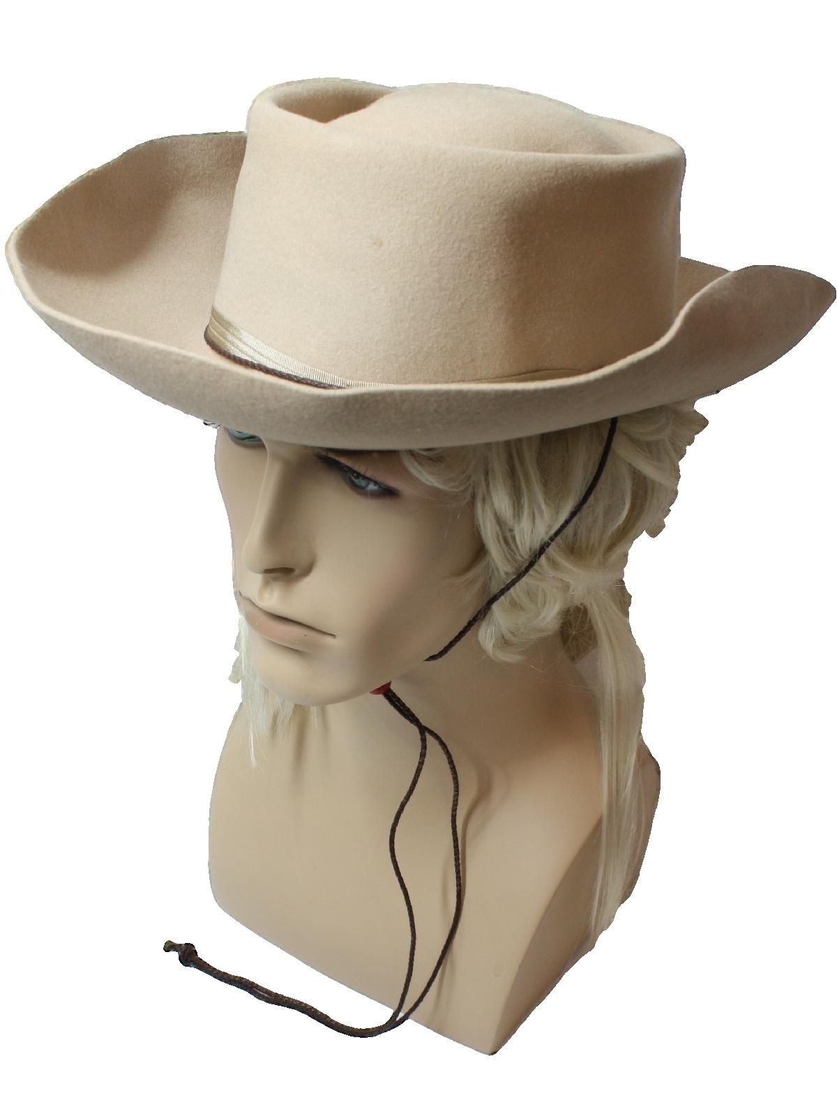 1960 s Vintage Morfelt Quality Hat  60s -Morfelt Quality- Mens beige ... f90a5a3406e