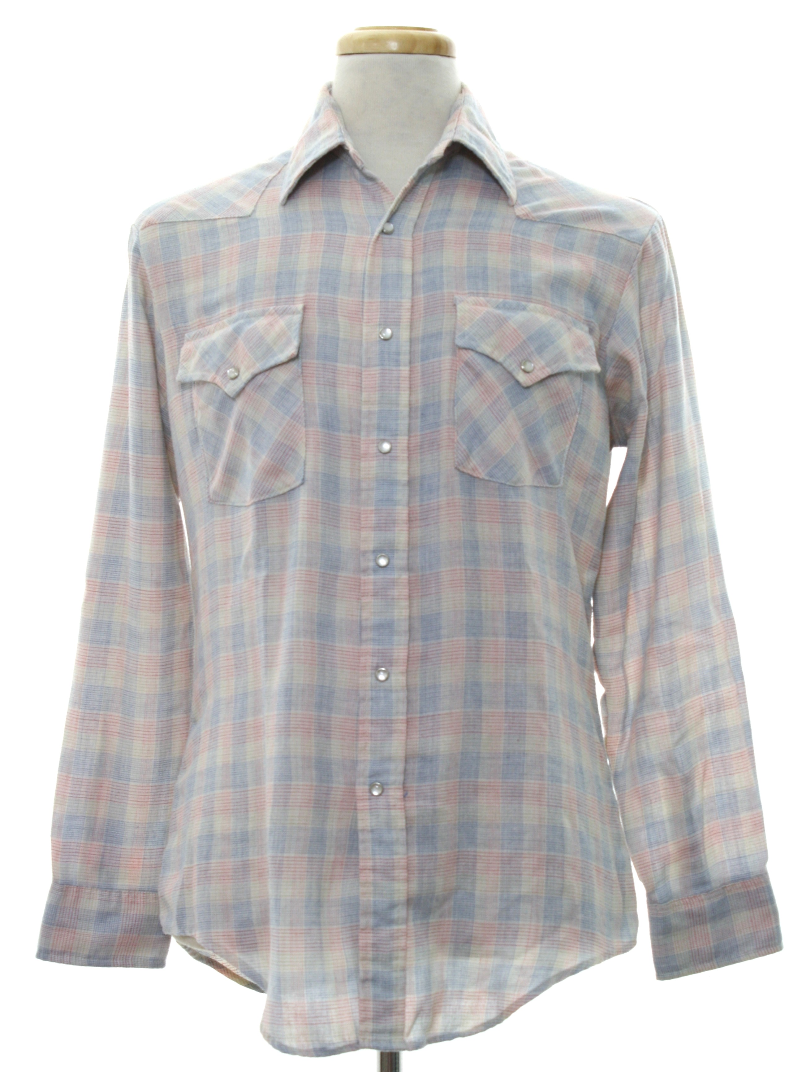 Retro 70s western shirt jeans joint 70s jeans joint for Cotton polyester flannel shirts