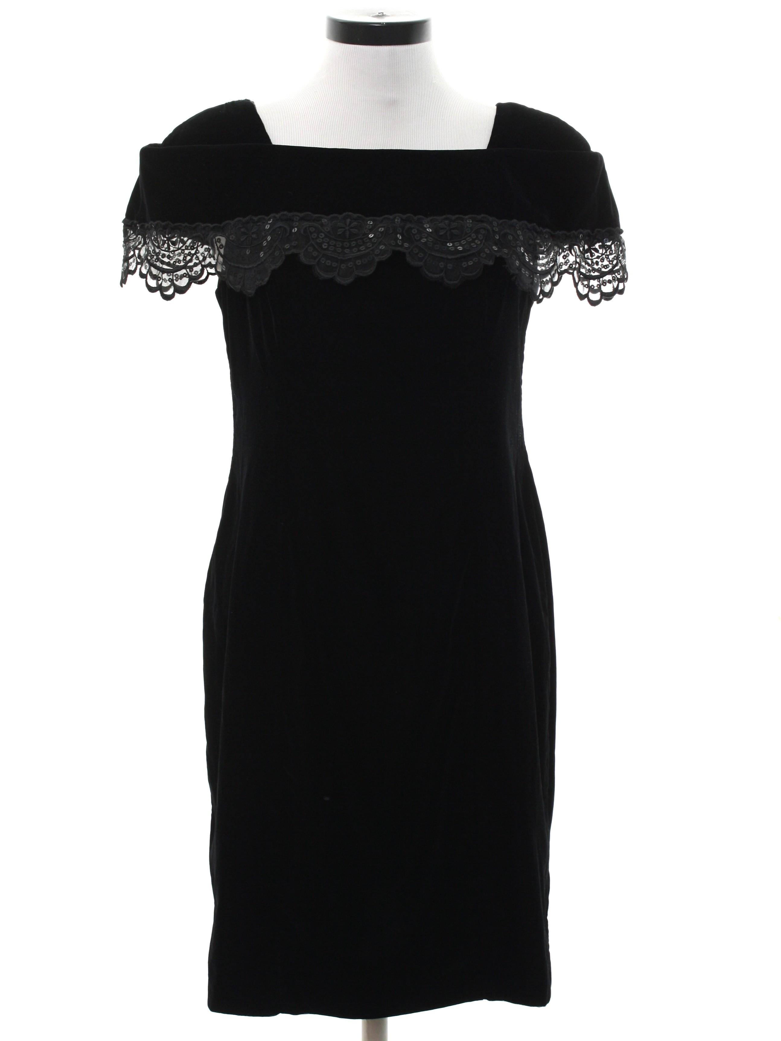 7e9ff7c64df7 Vintage 80s Cocktail Dress  Late 80s -Jessica Howard- Womens black ...