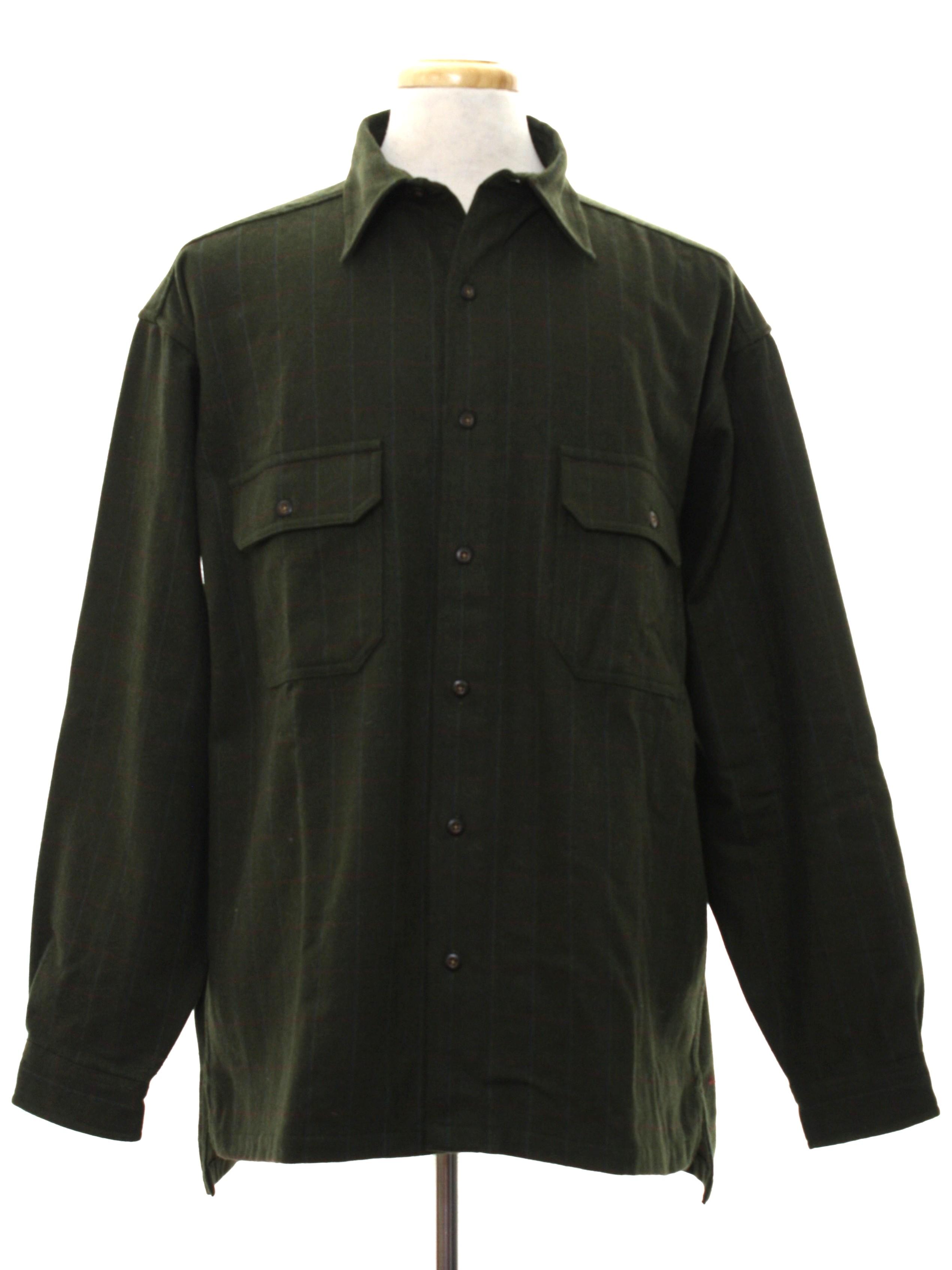 1990s Urban Wear By Structure Wool Shirt 90s Urban Wear