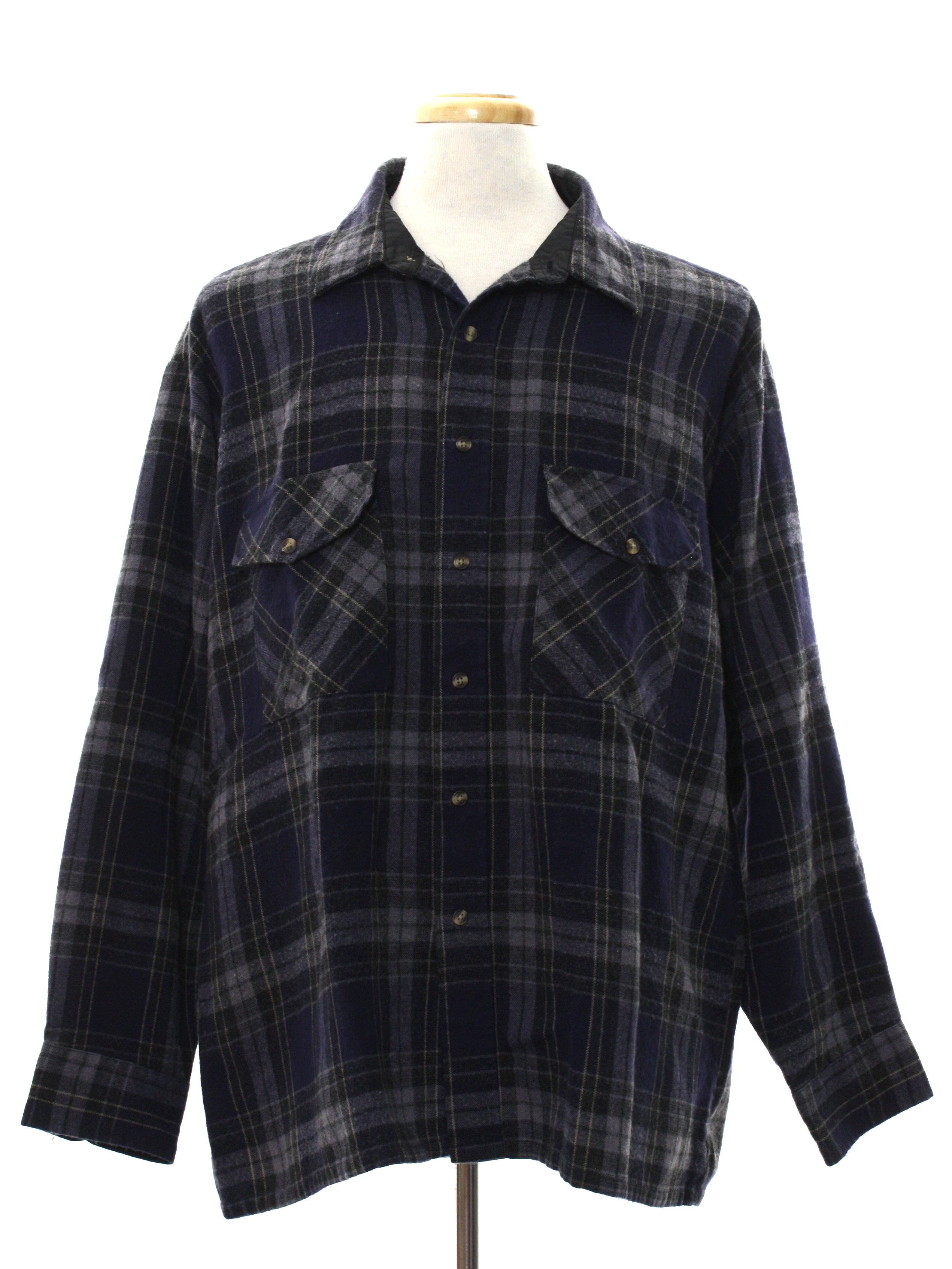 80 39 s vintage shirt late 80s or early 90s consensus for Polyester lined flannel shirts