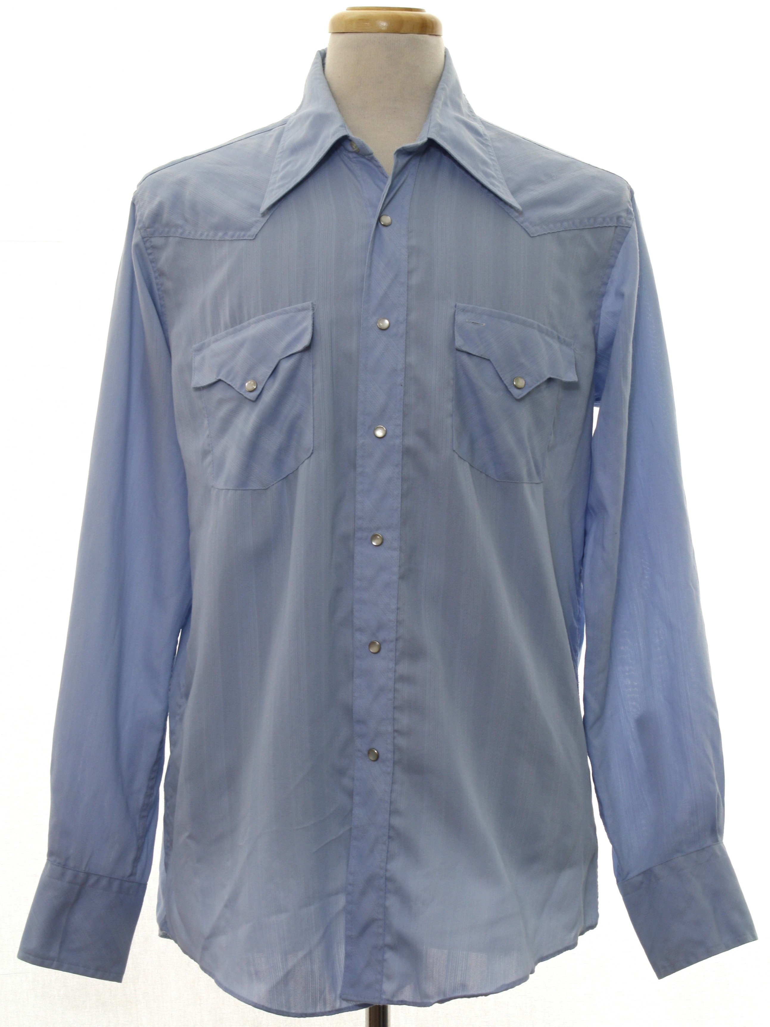 70s Vintage Western Shirt Late 70s Or Early 80s Fenton Mens Sky