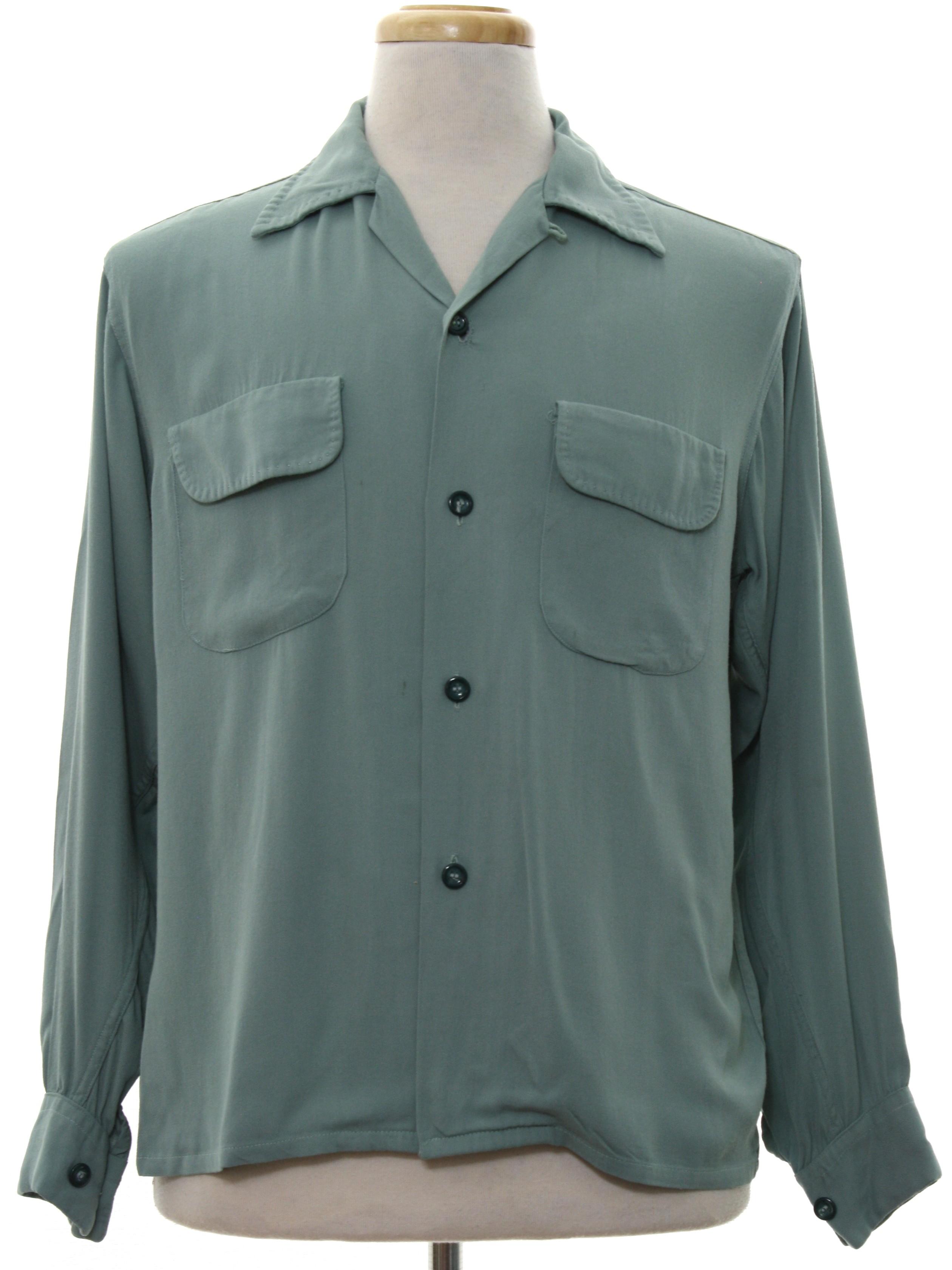 1950's Retro Gabardine Shirt: 50s -Rayon Gabardine- Mens ... | 2520 x 3361 jpeg 828kB