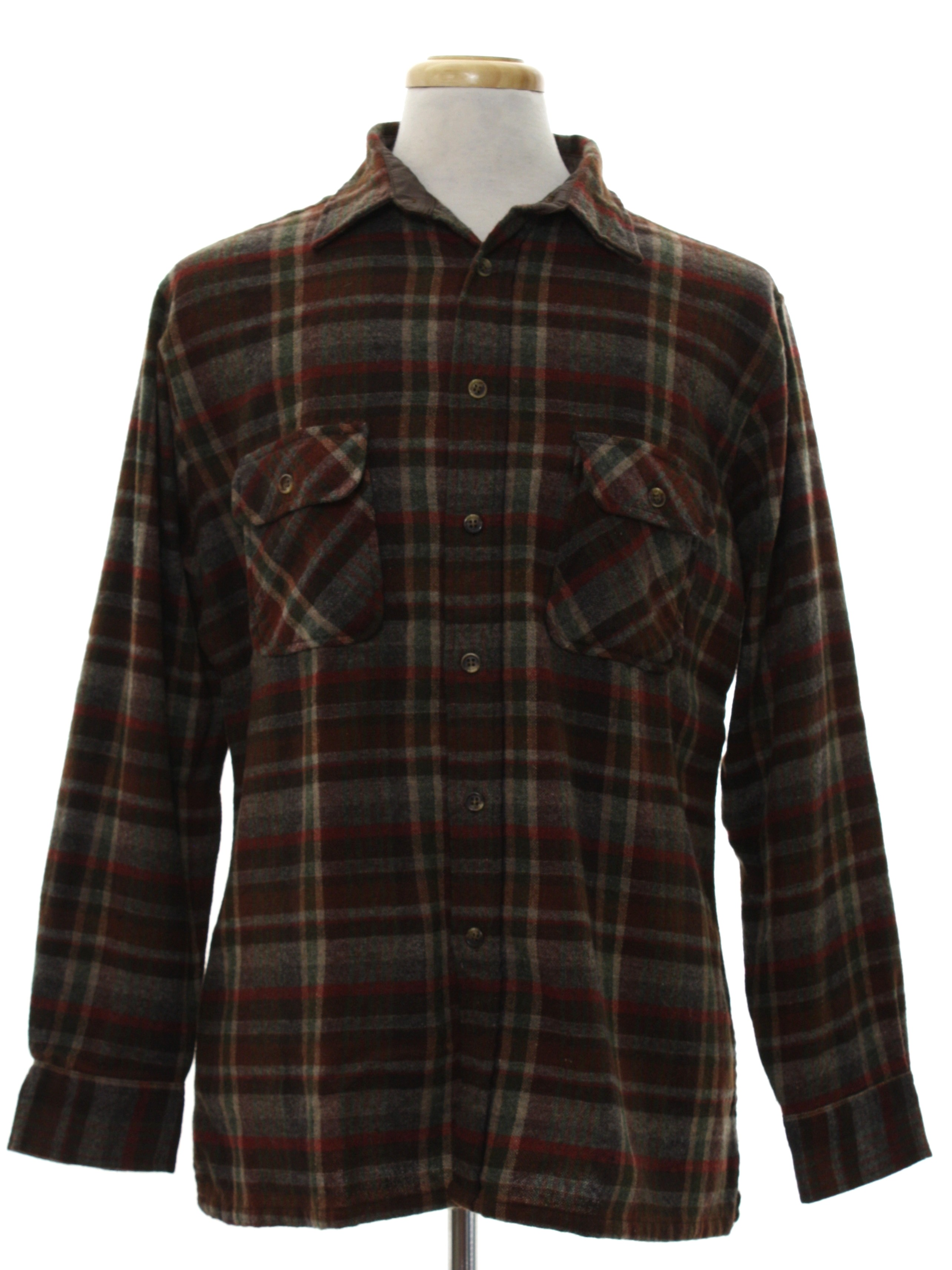 80s vintage anthony foxx wool shirt 80s anthony foxx for Mens wool flannel shirt