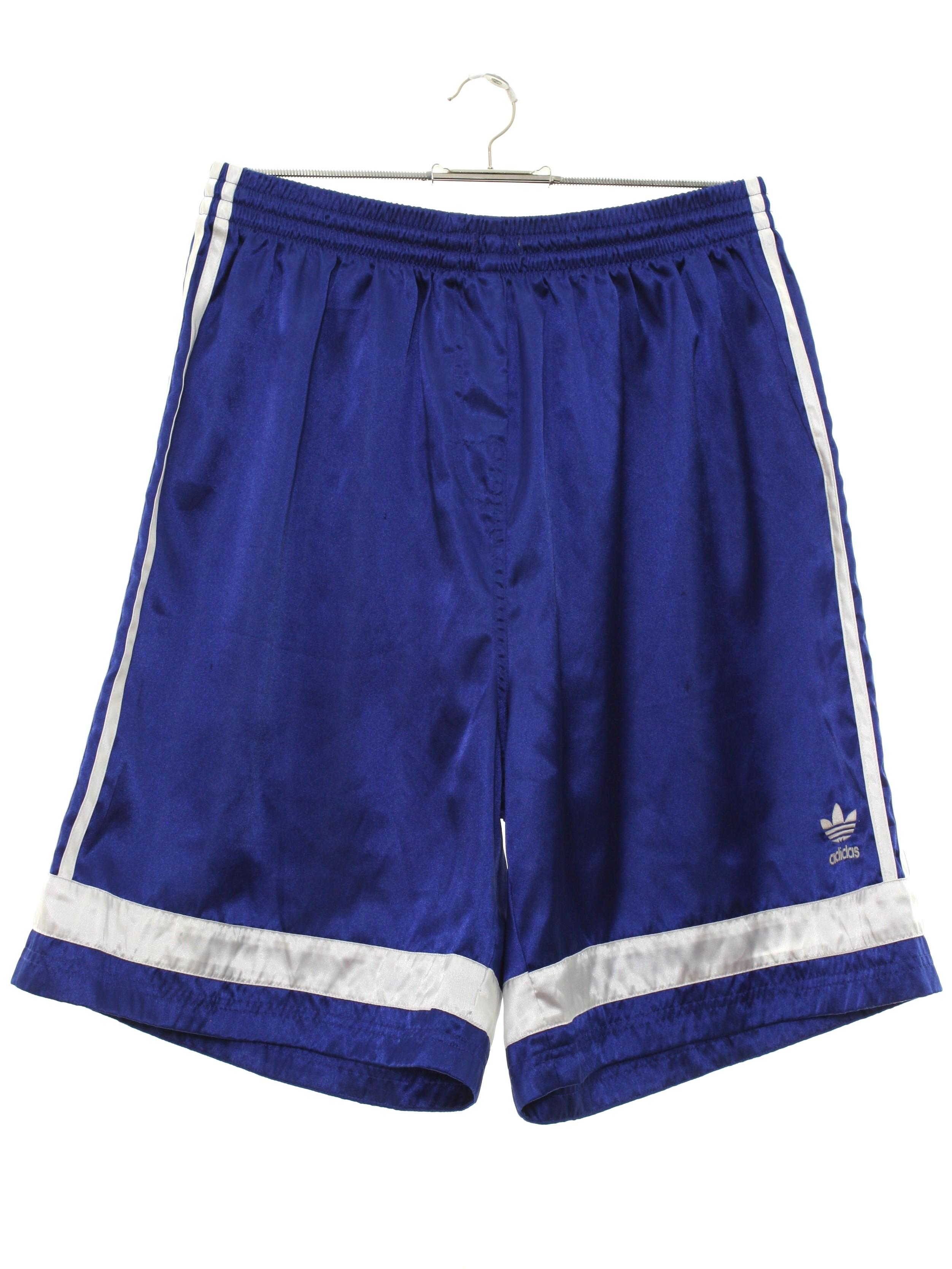 5a17c3020f Vintage 1990's Shorts: 90s -Adidas- Mens shiny royal blue background ...