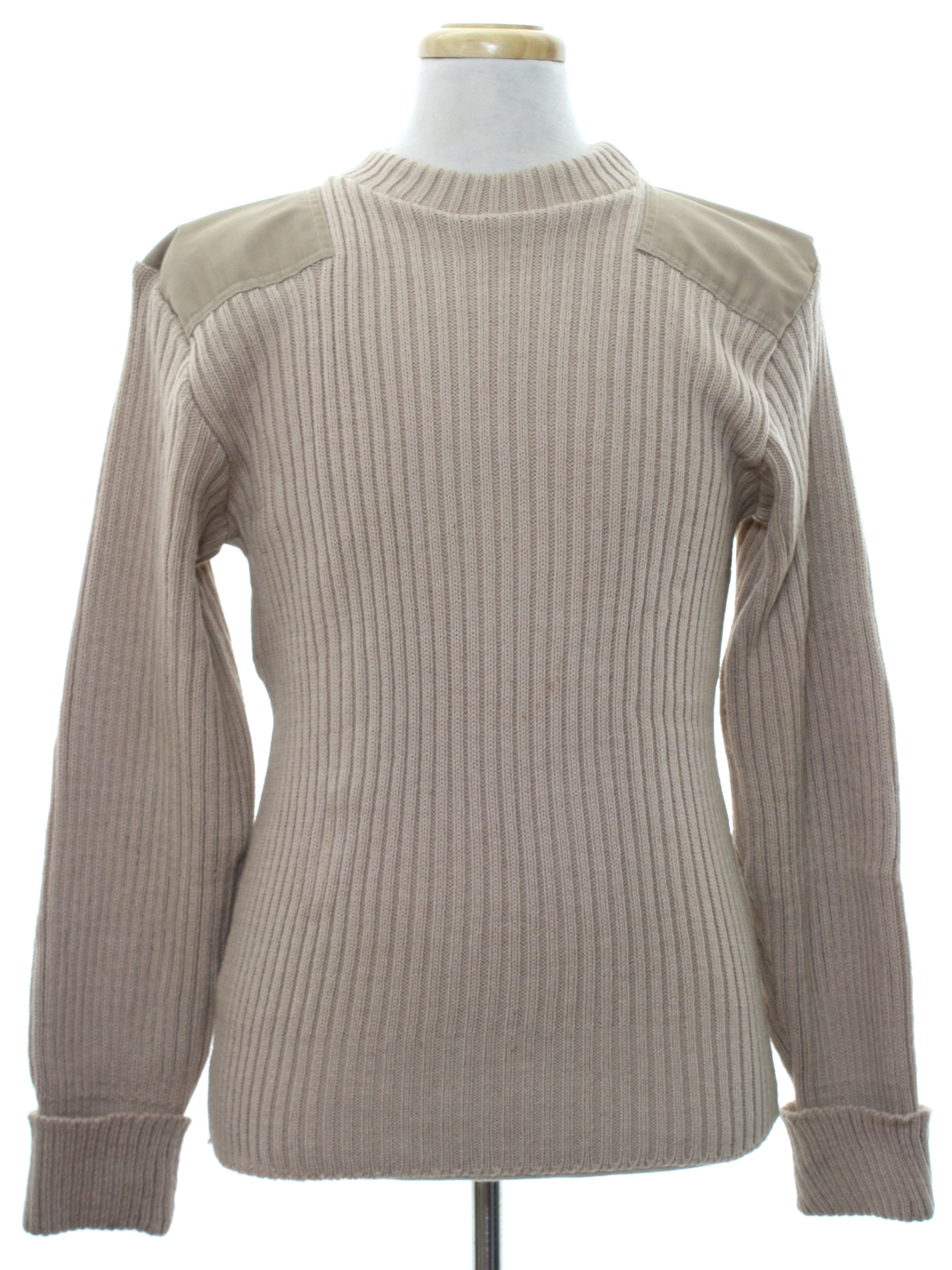 Eighties Vintage Sweater: 80s -Brigade Quarter Masters- Mens light ...