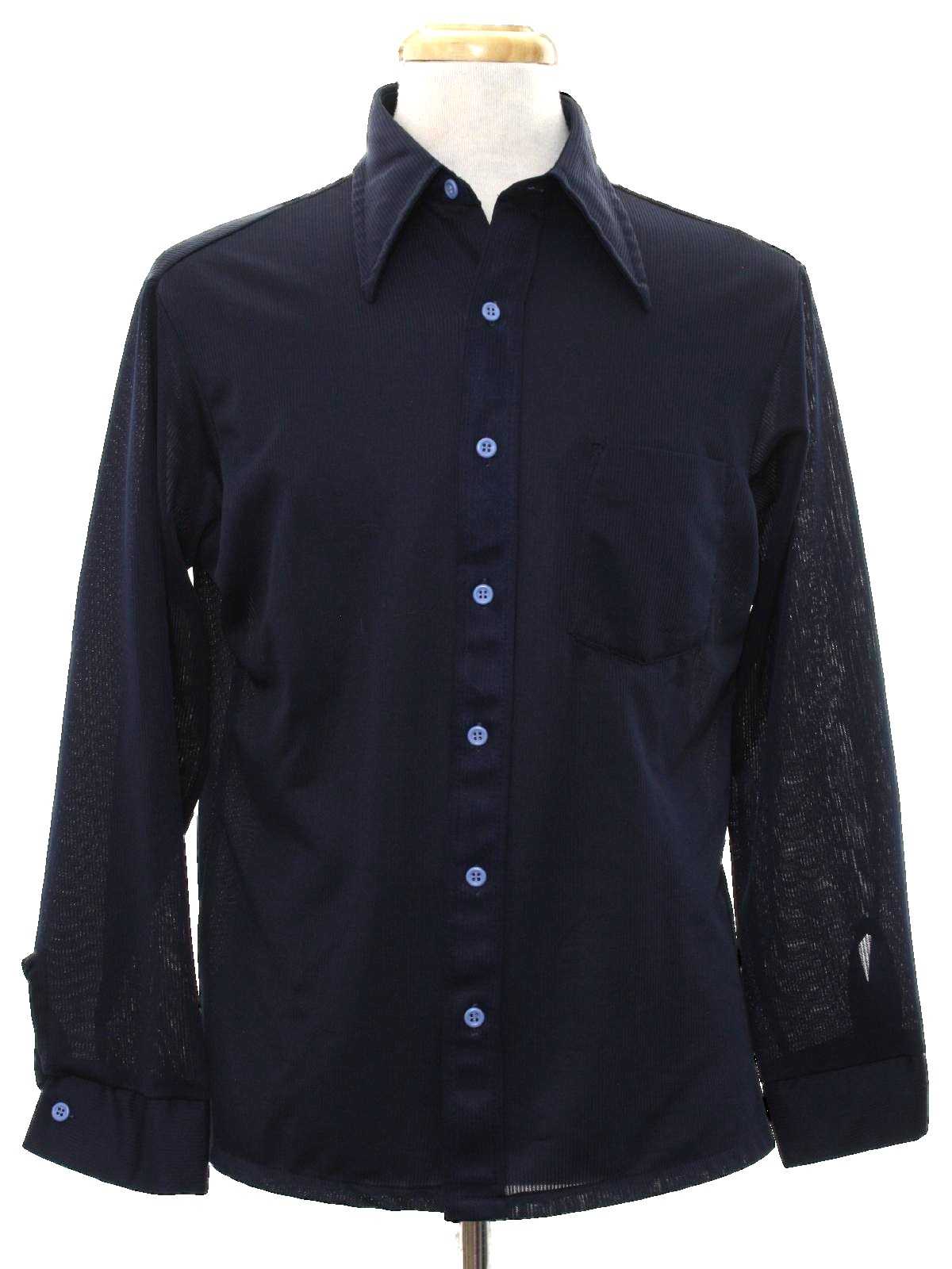 1970 39 s vintage kmart disco shirt 70s kmart mens for Kmart button up shirts