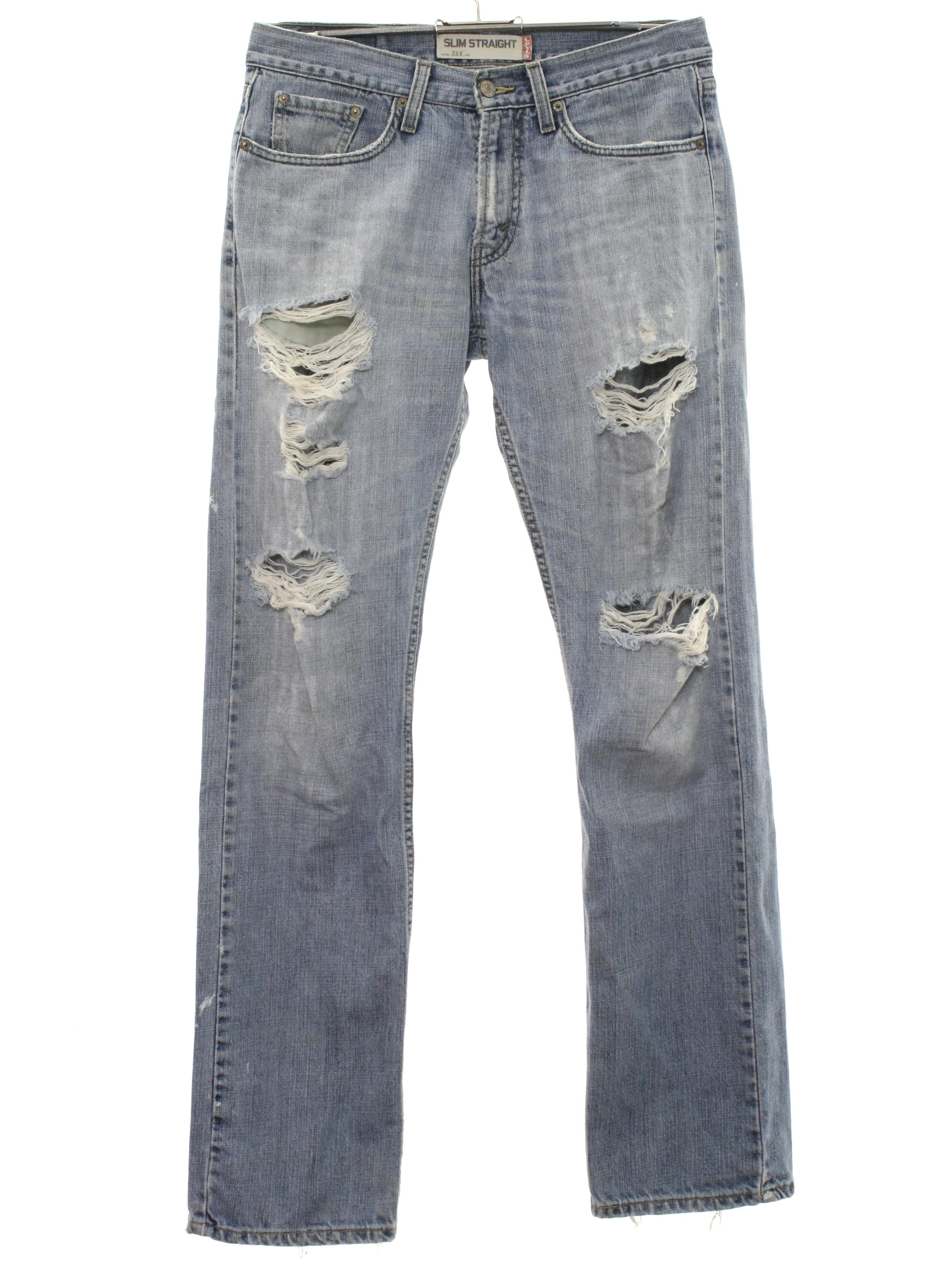 90s Pants (Levis): 90s -Levis- Mens faded blue cotton denim ...