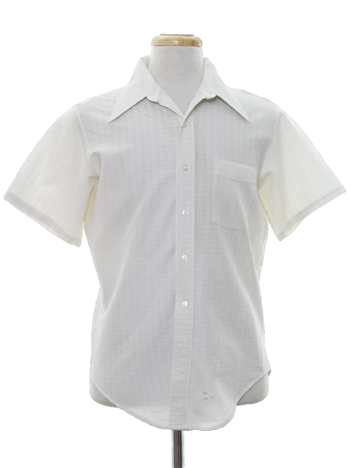 Vintage kmart 70 39 s shirt 70s kmart mens white with for Kmart button up shirts