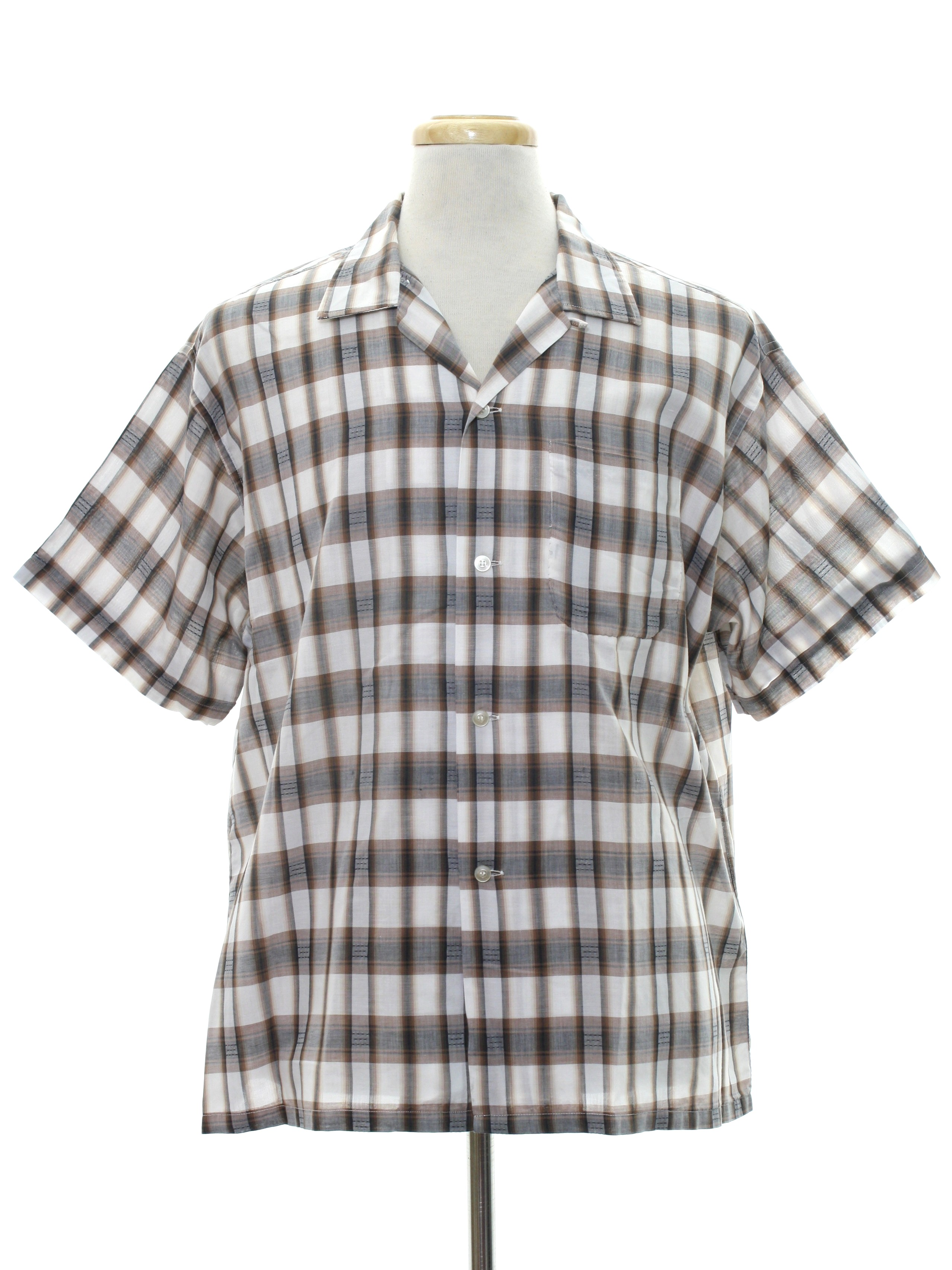 675494883ff95 1950's Mens Mod Sport Shirt