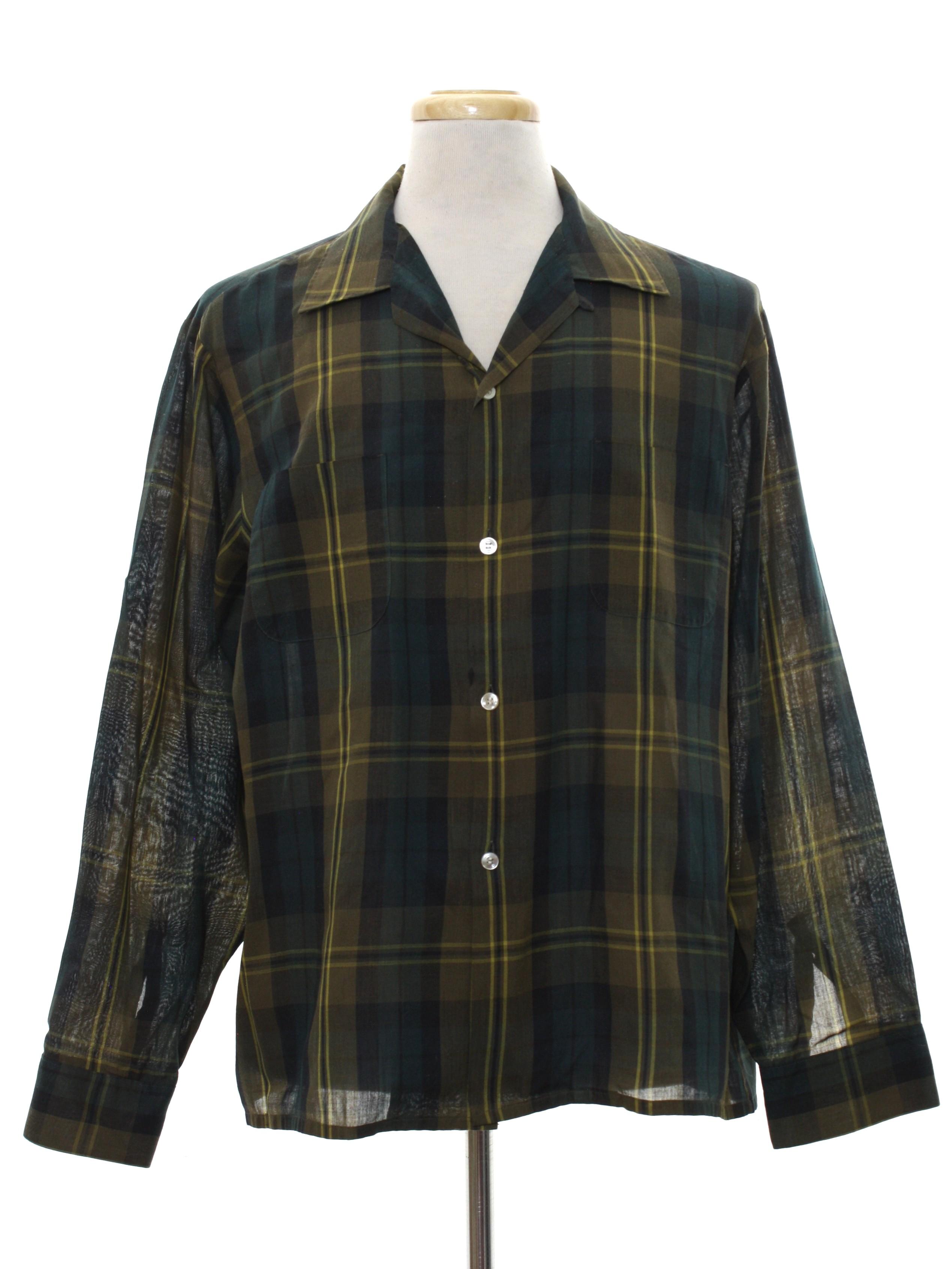 d042418ccc8c7 1960's McGregor Scotset Mens Mod Sport Shirt