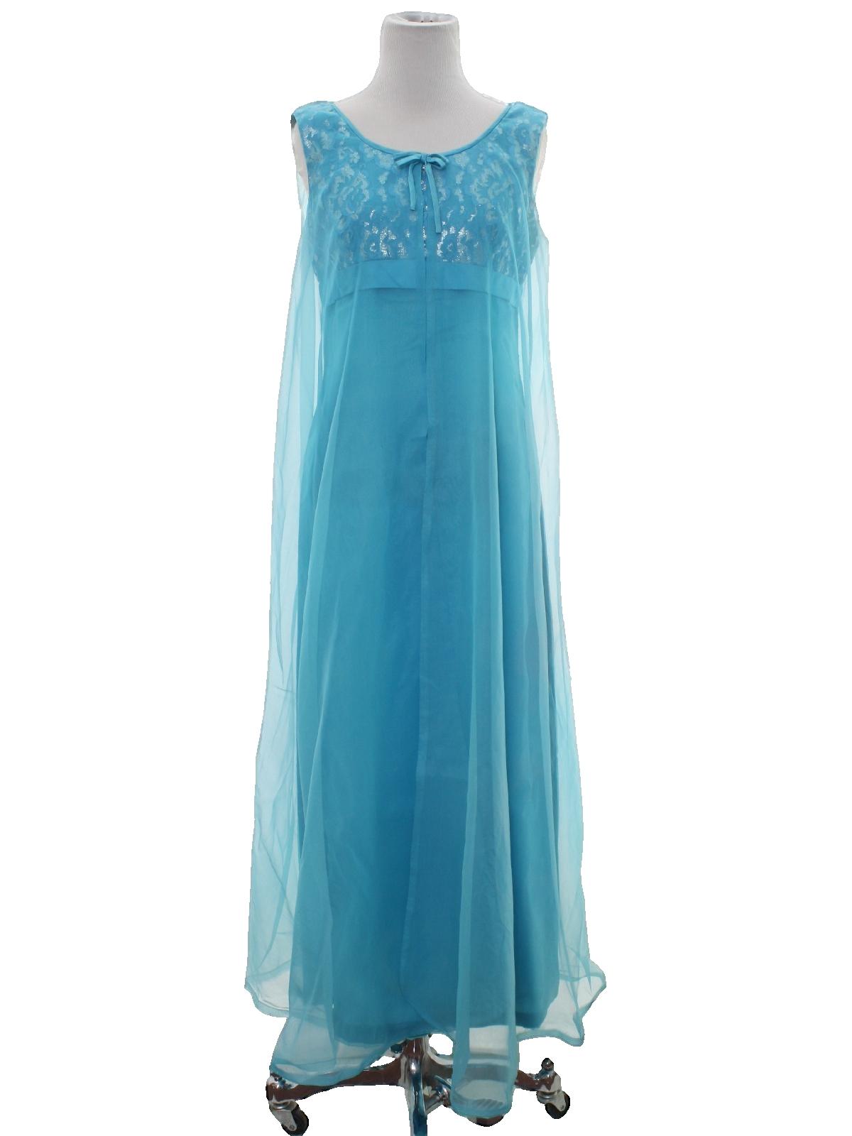 1960\'s Retro Cocktail Dress: 60s -Union Label- Womens turquoise ...