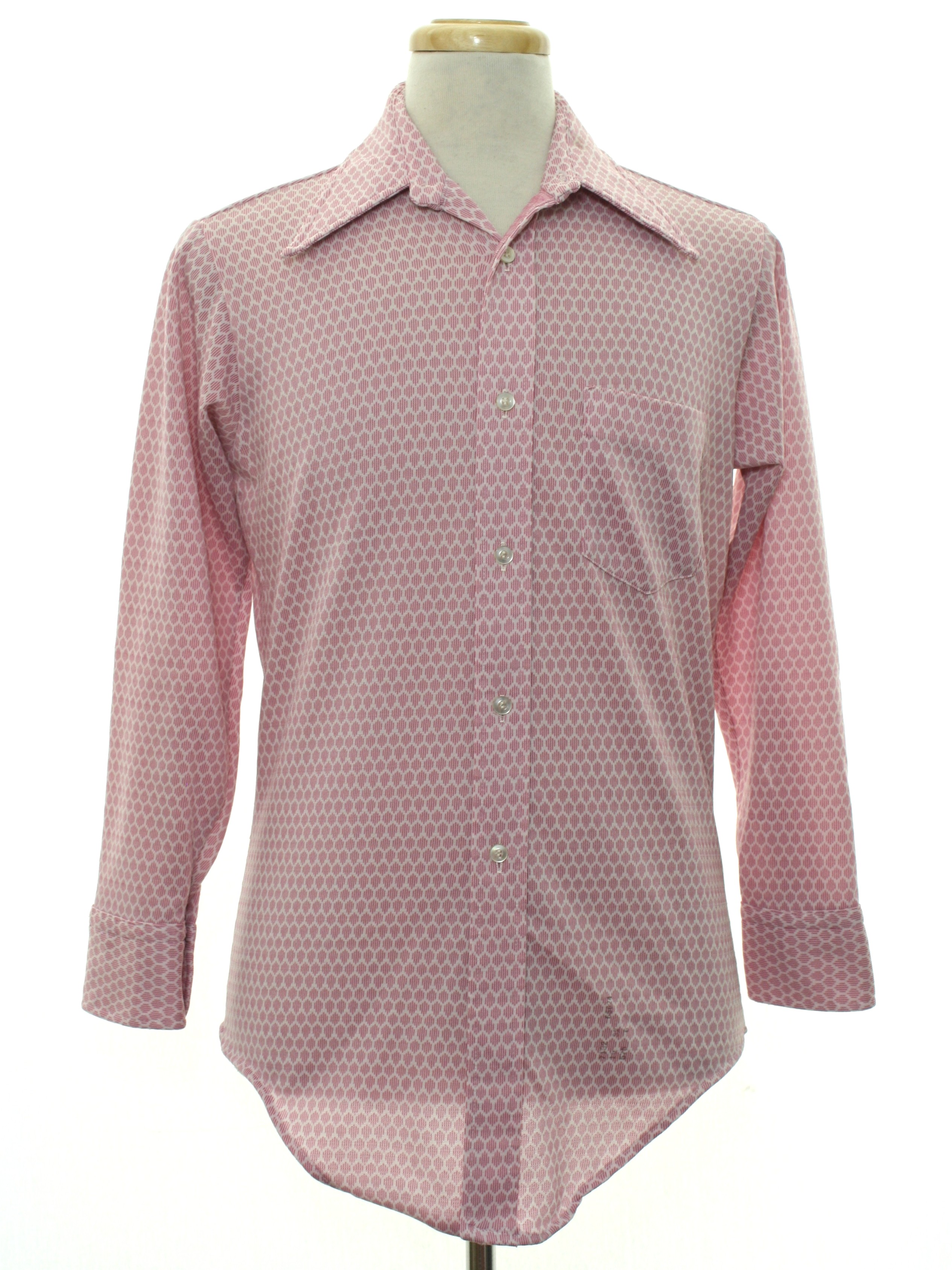 Retro 1970 39 s shirt kmart 70s kmart mens pink and for Kmart button up shirts