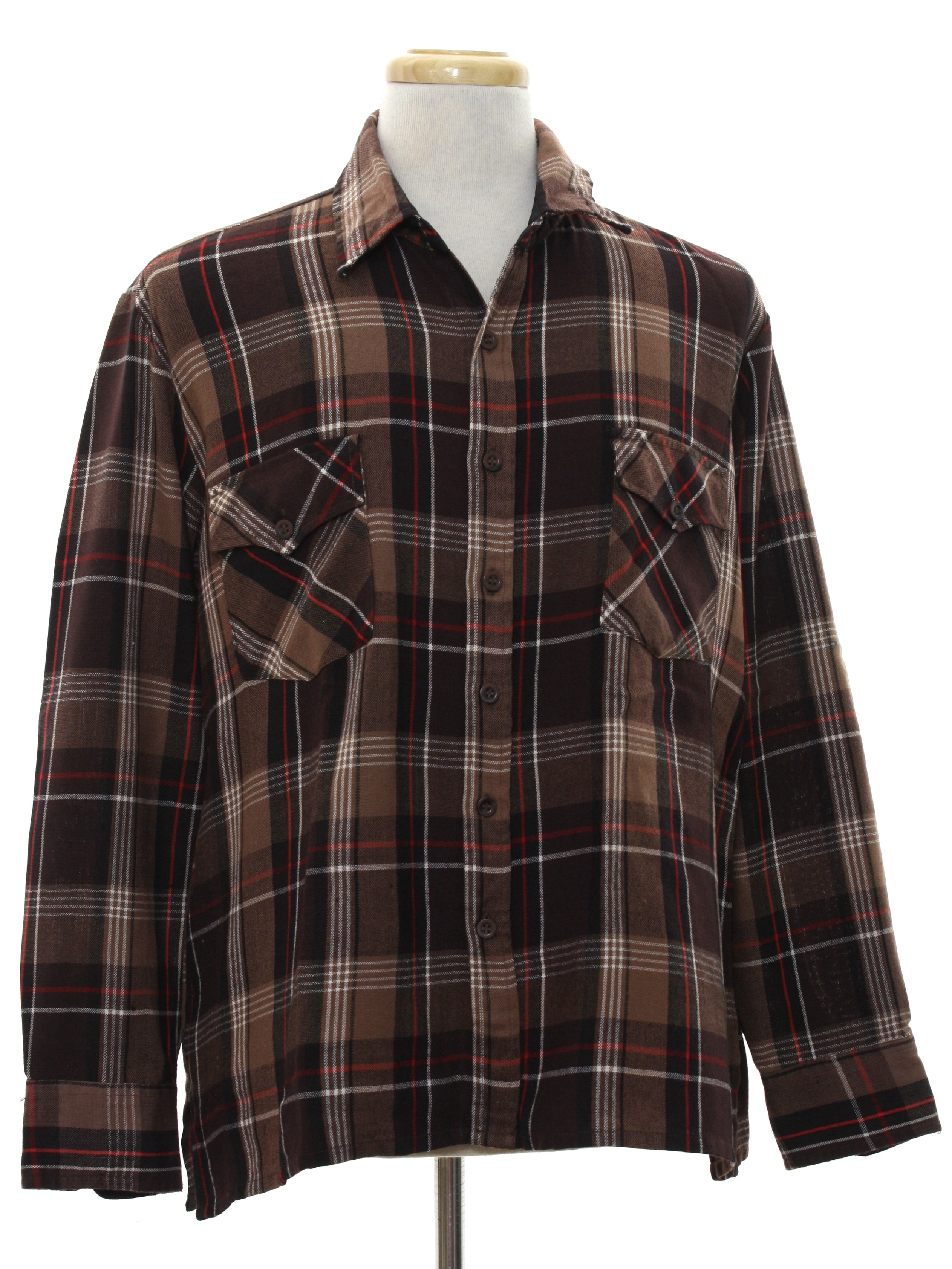 Retro 80s shirt missing label early 80s missing label for Mens flannel shirt with elbow patches