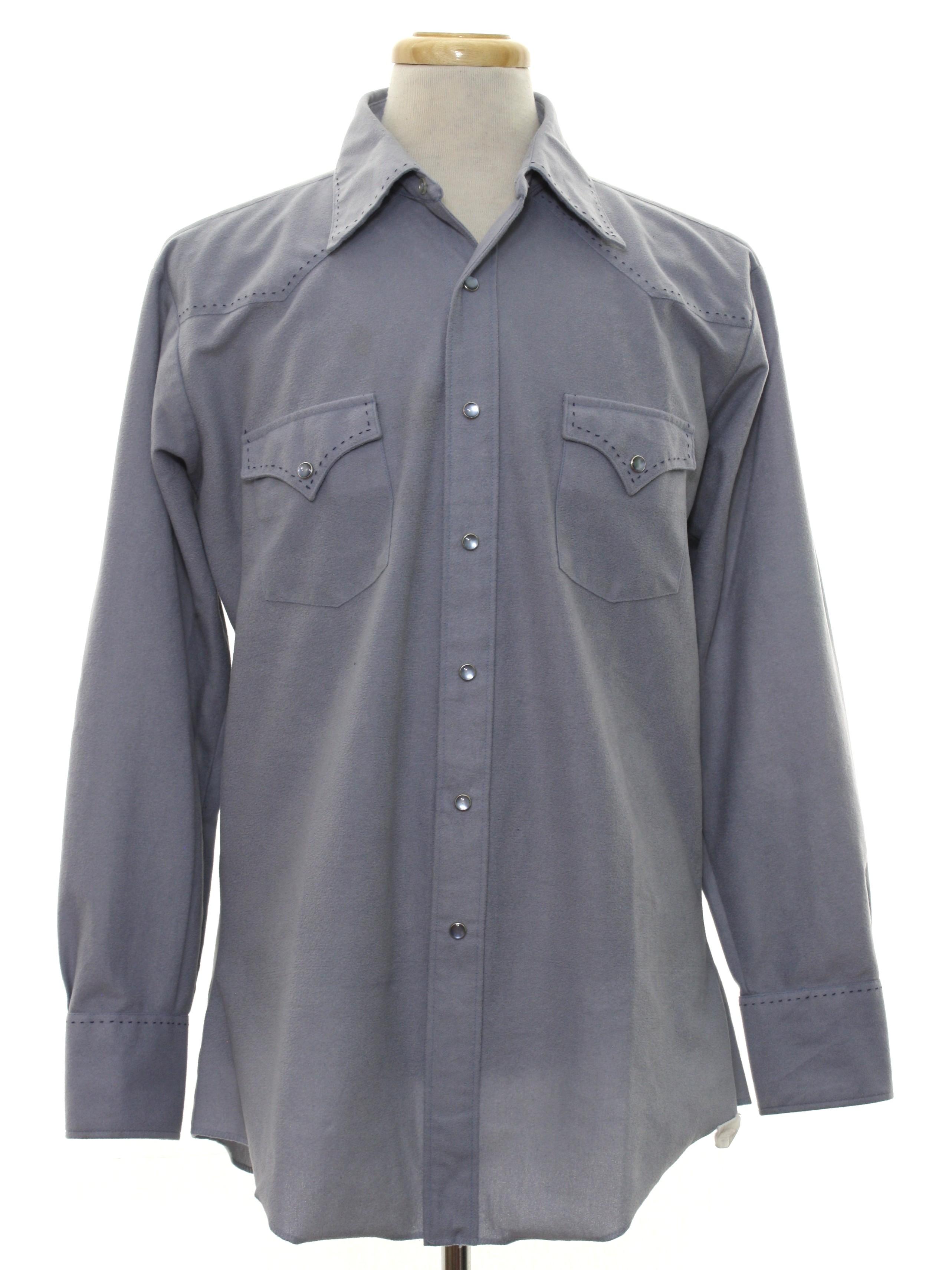 H Bar C Eighties Vintage Western Shirt 80s H Bar C Mens