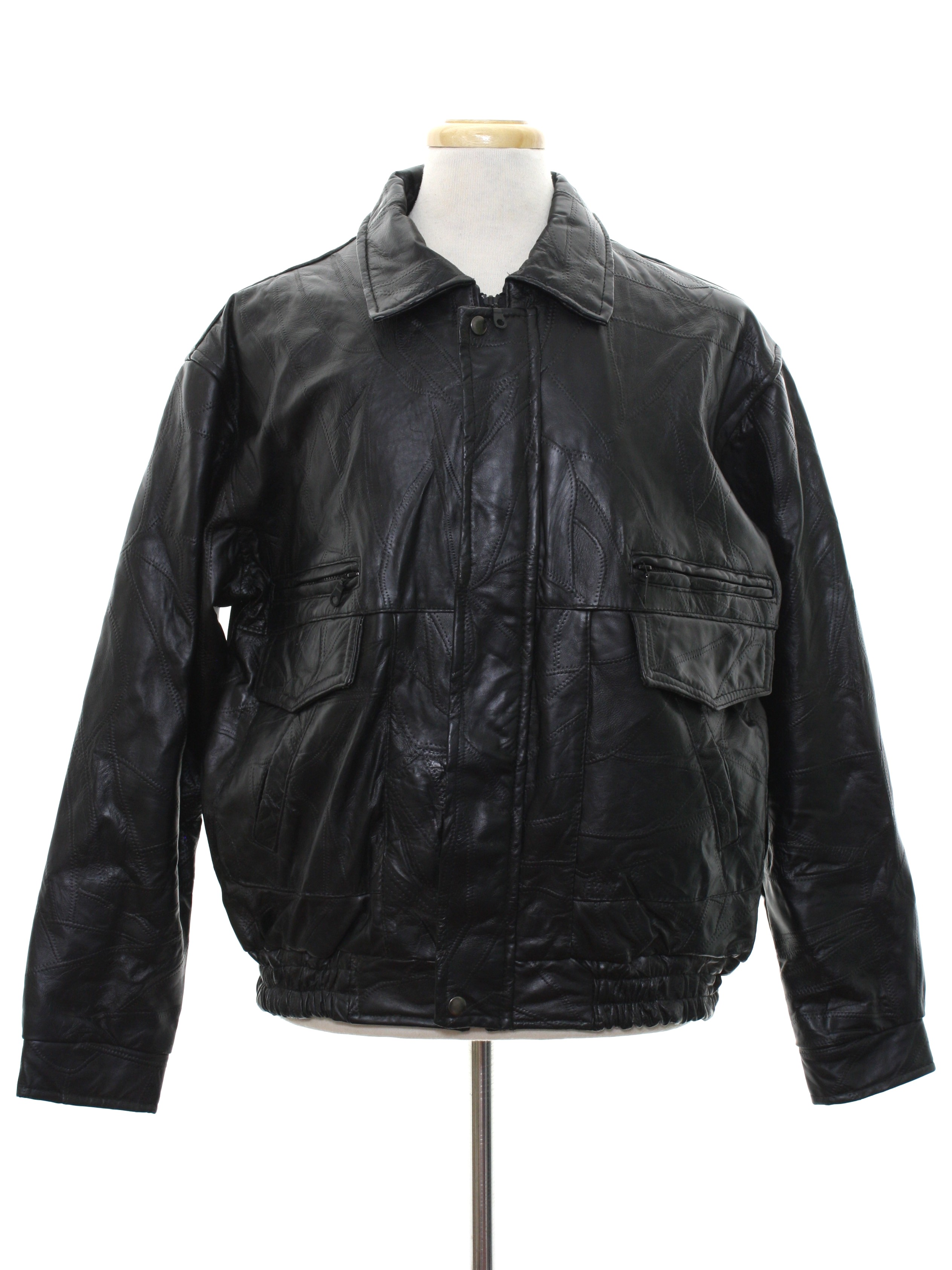Retro Nineties Leather Jacket 90s Or Newer Leather