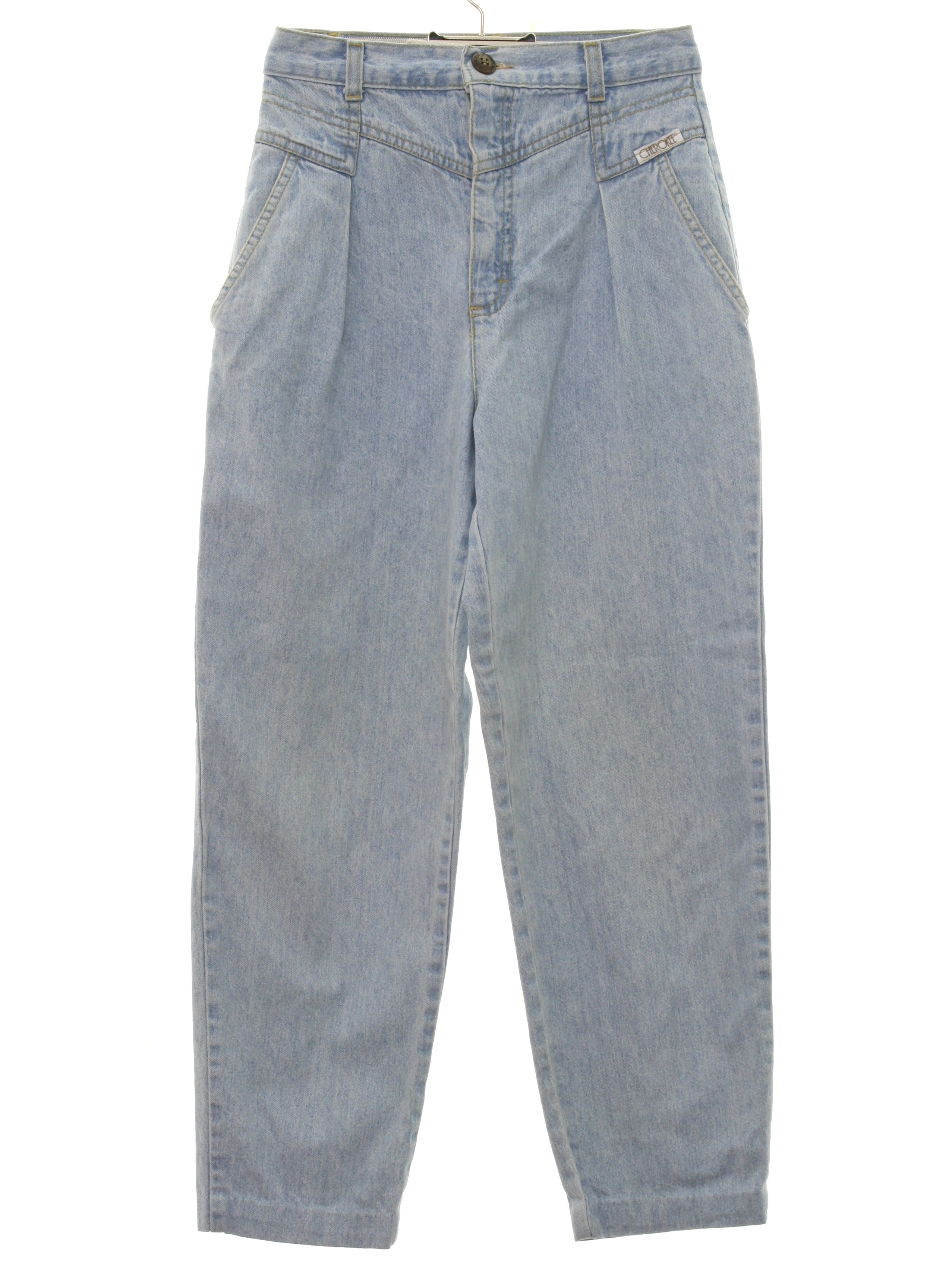 get cheap brand new entire collection 1980's Cherokee Womens Totally 80s Baggy Tapered Leg Denim Jeans Pants