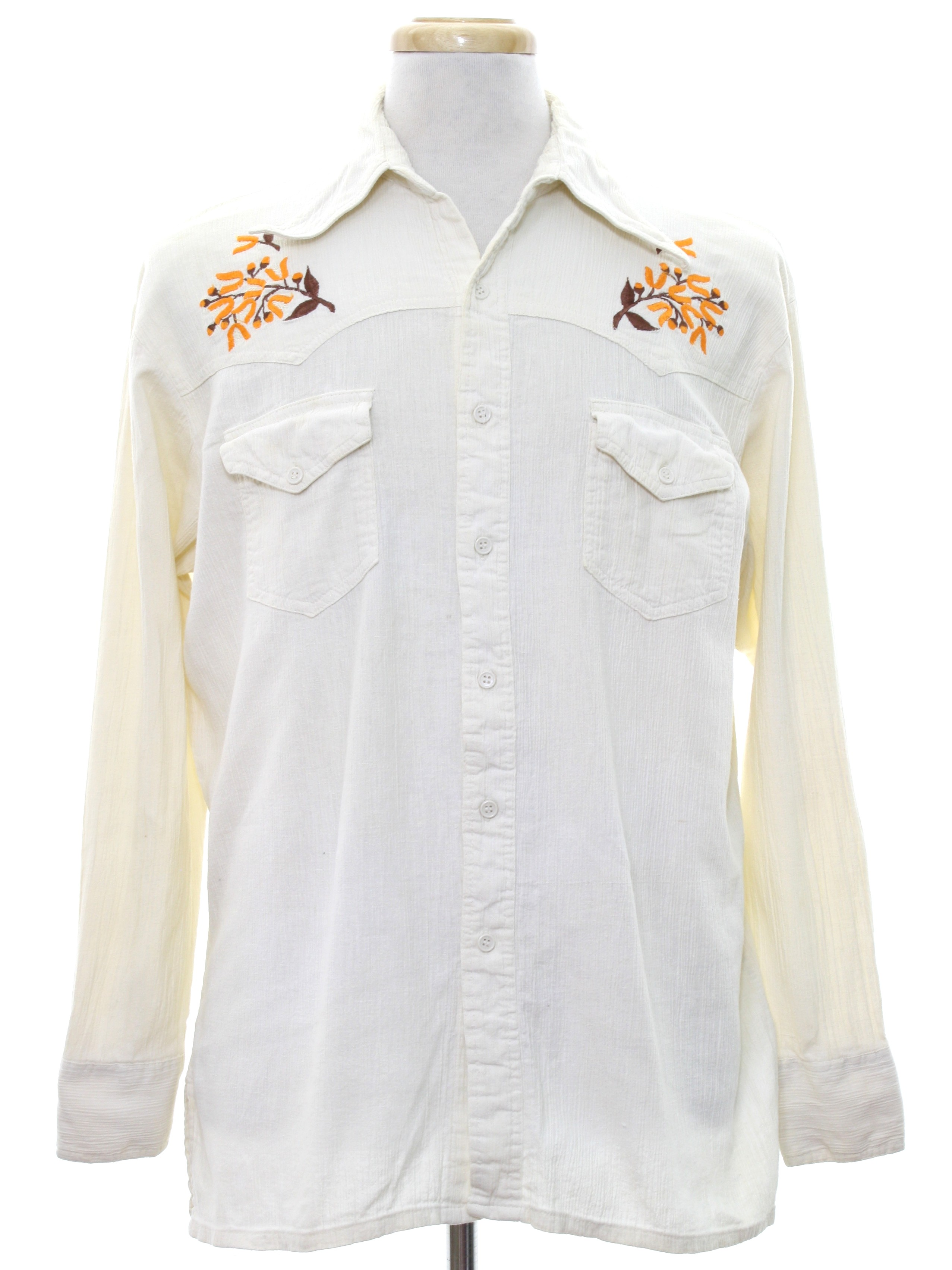 Vintage 1970 39 s western shirt late 70s or early 80s kmart for Kmart button up shirts
