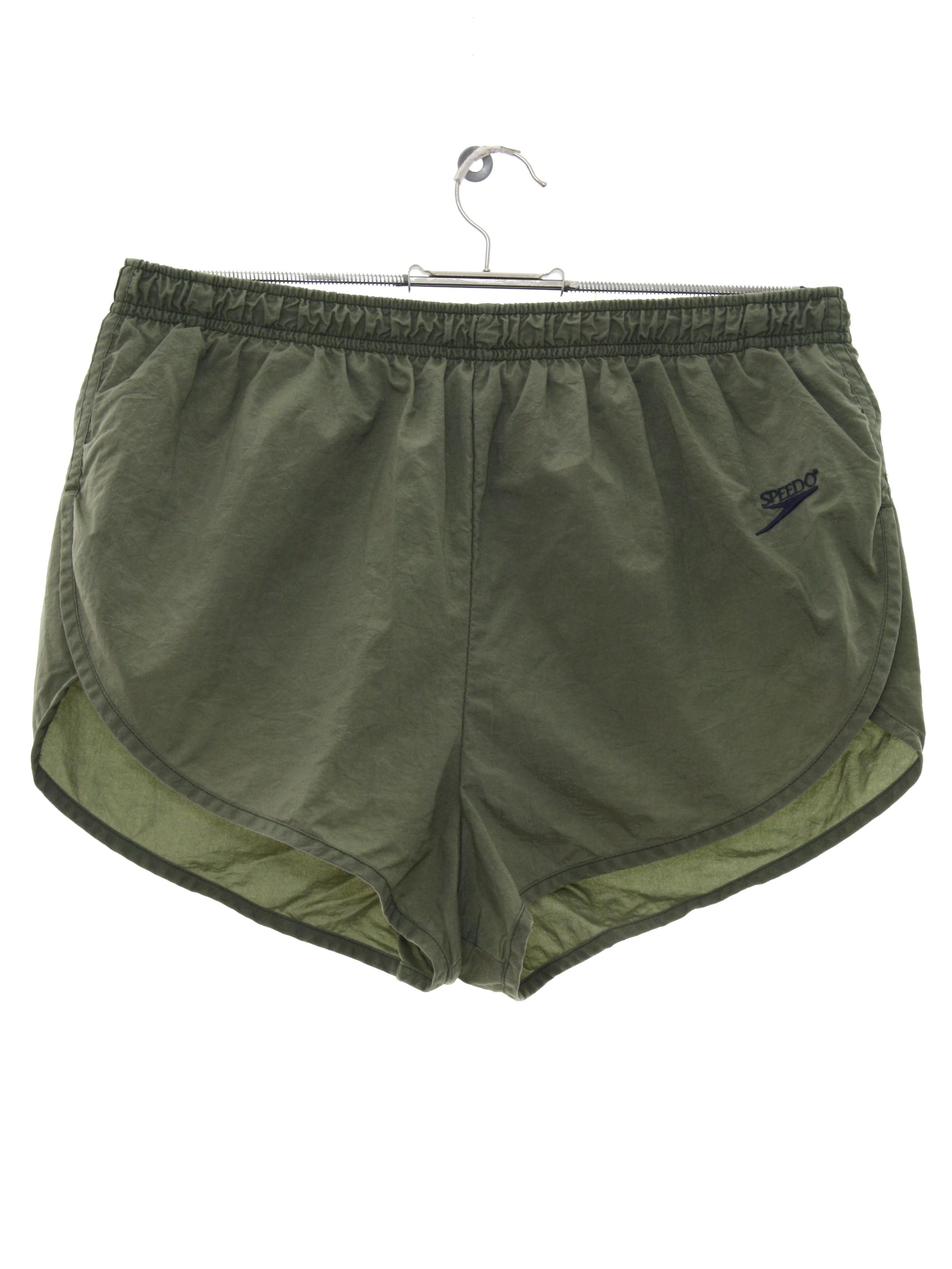 90s Shorts (Speedo): 90s -Speedo- Mens khaki green background ...