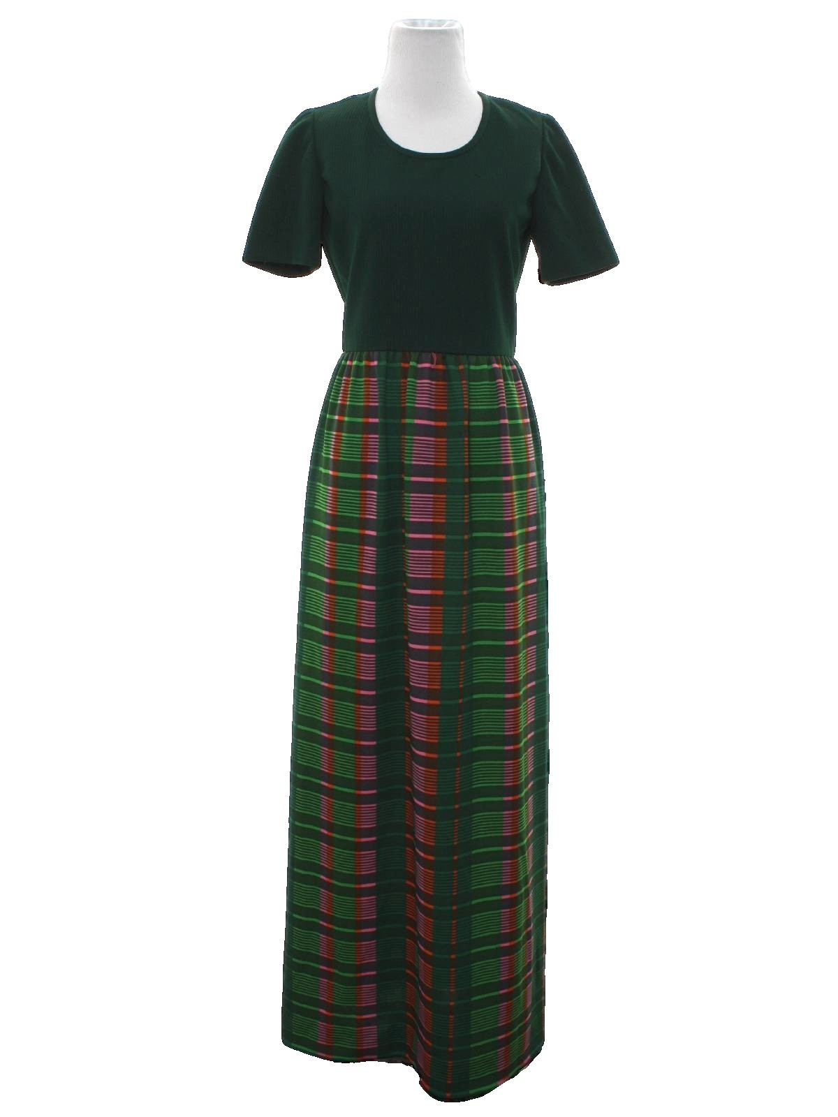 Vintage Leslie Fay maxi knit dress