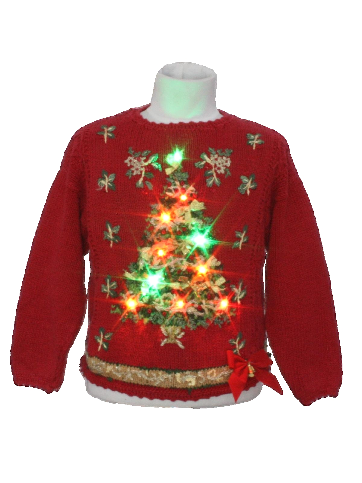Kids Multicolor Lightup Ugly Christmas Sweater: -Casual Corner ...