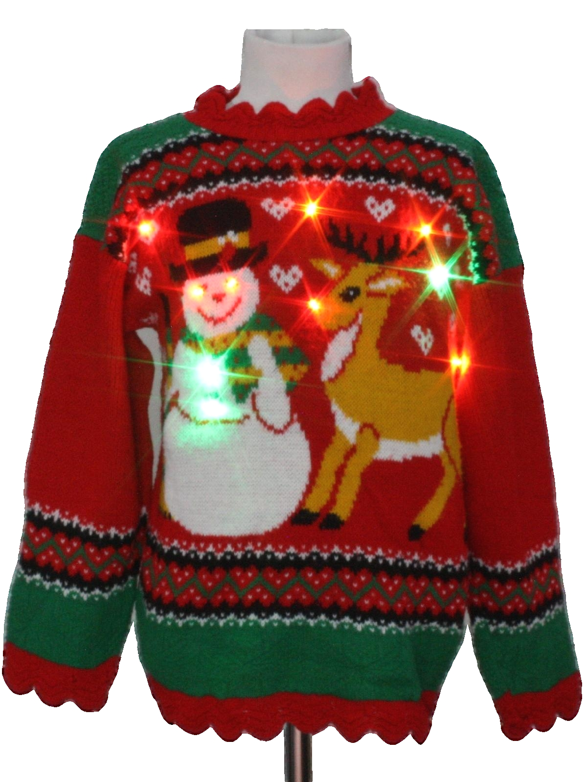 1980s /Kids Multicolor Lightup Ugly Christmas Sweater: 80s authentic ...