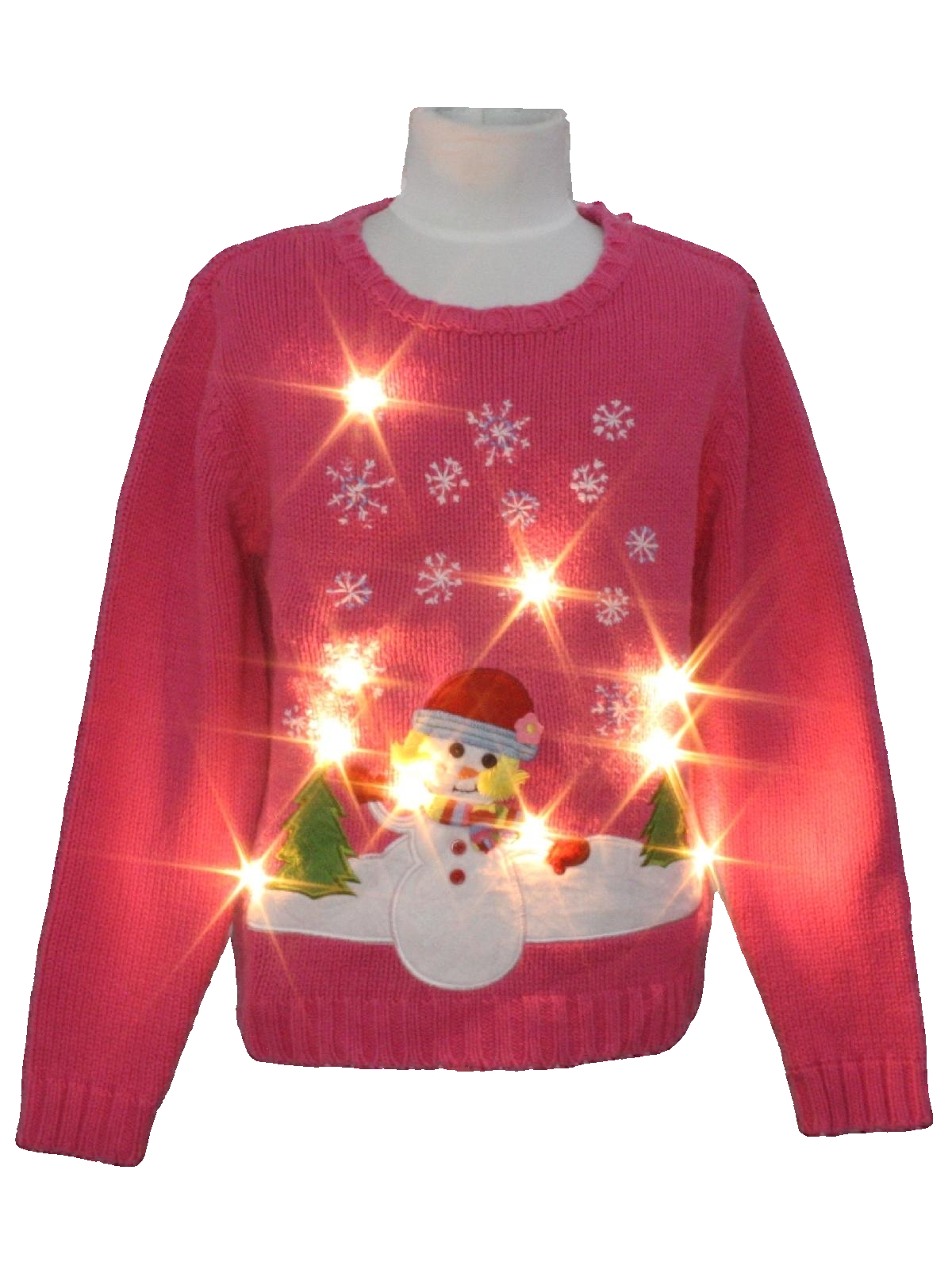 womensgirls white lightup ugly christmas sweater childrens place girls pink background cotton ramie blend pullover longsleeve ugly christmas white - Childrens Ugly Christmas Sweaters